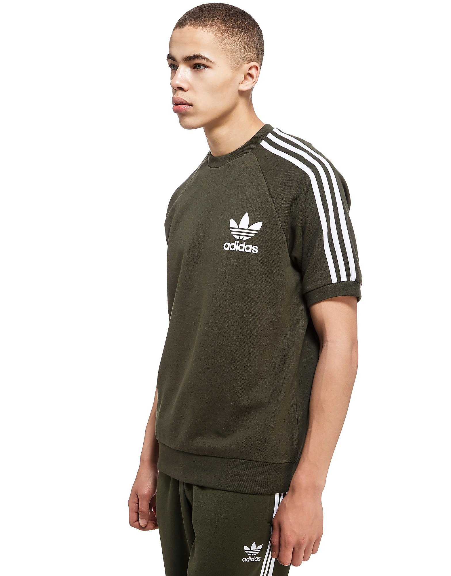 adidas Originals California Short Sleeve Crew Sweatshirt