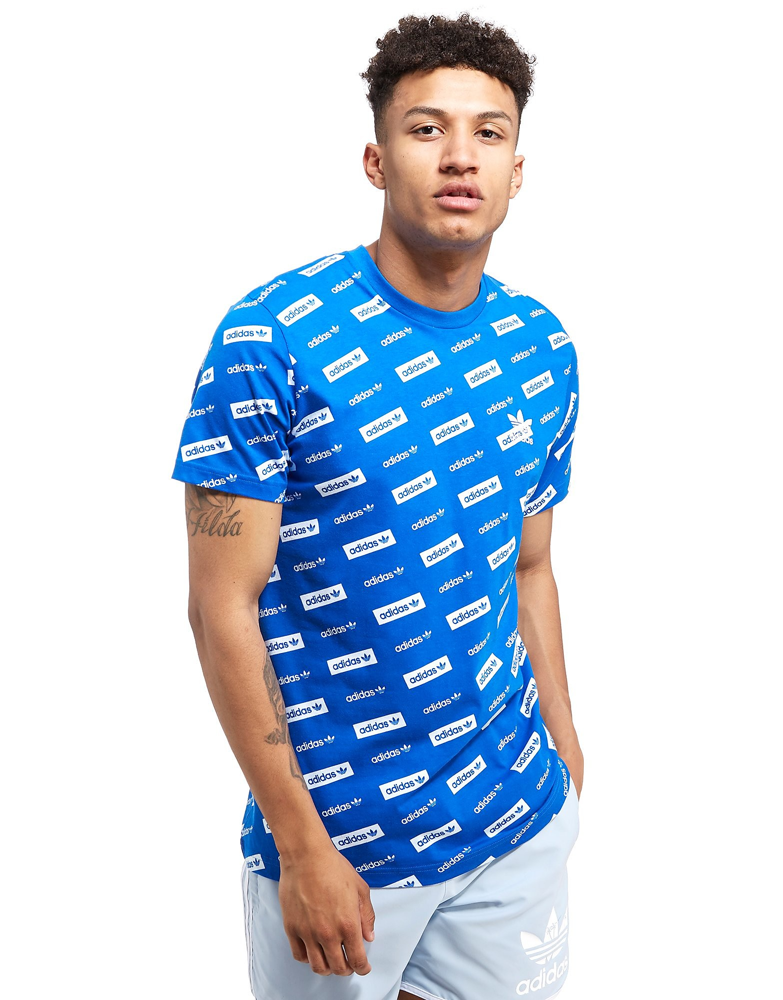 adidas Originals Linear All-Over Print T-Shirt
