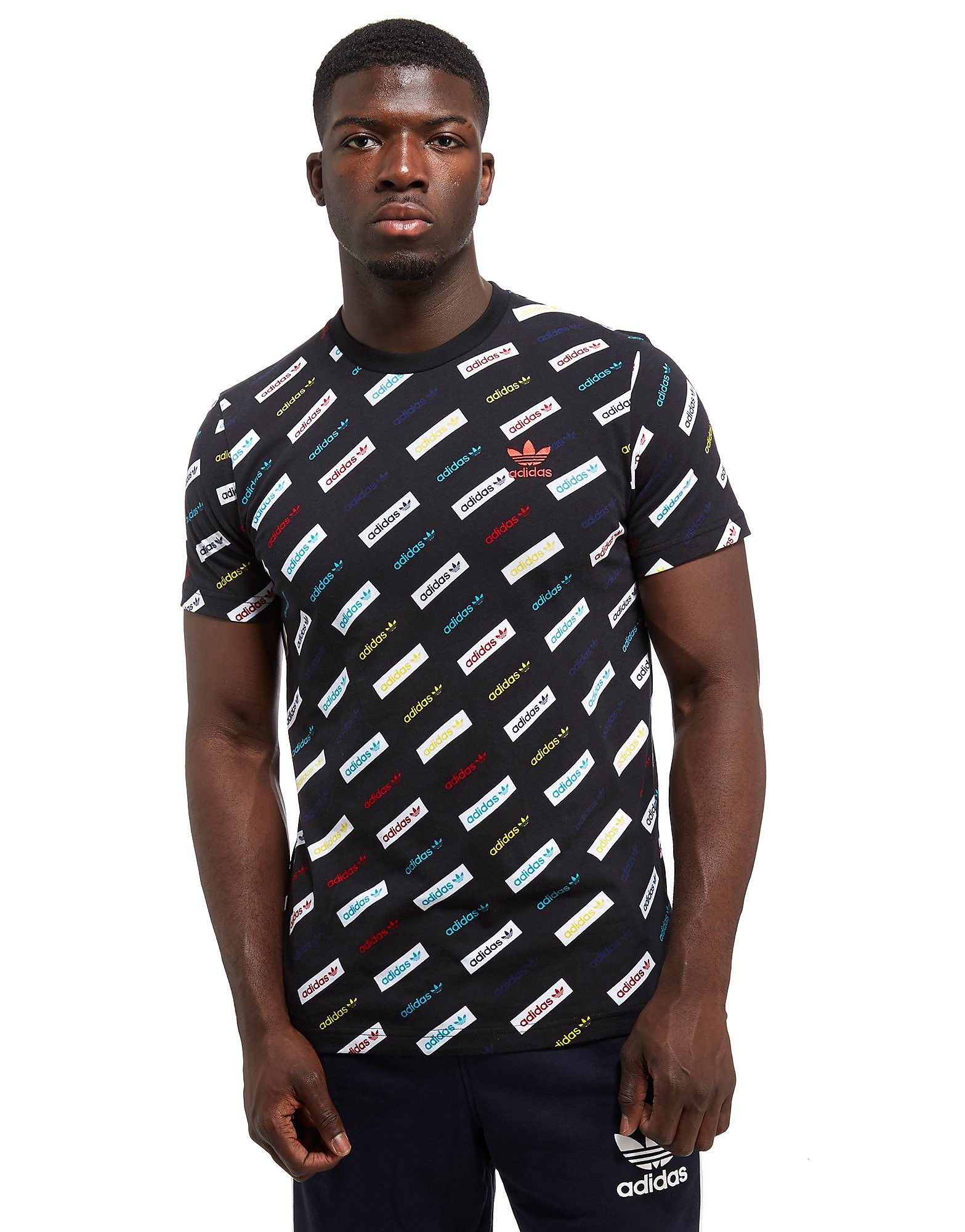 adidas Originals Linear All-Over Print T-Shirt