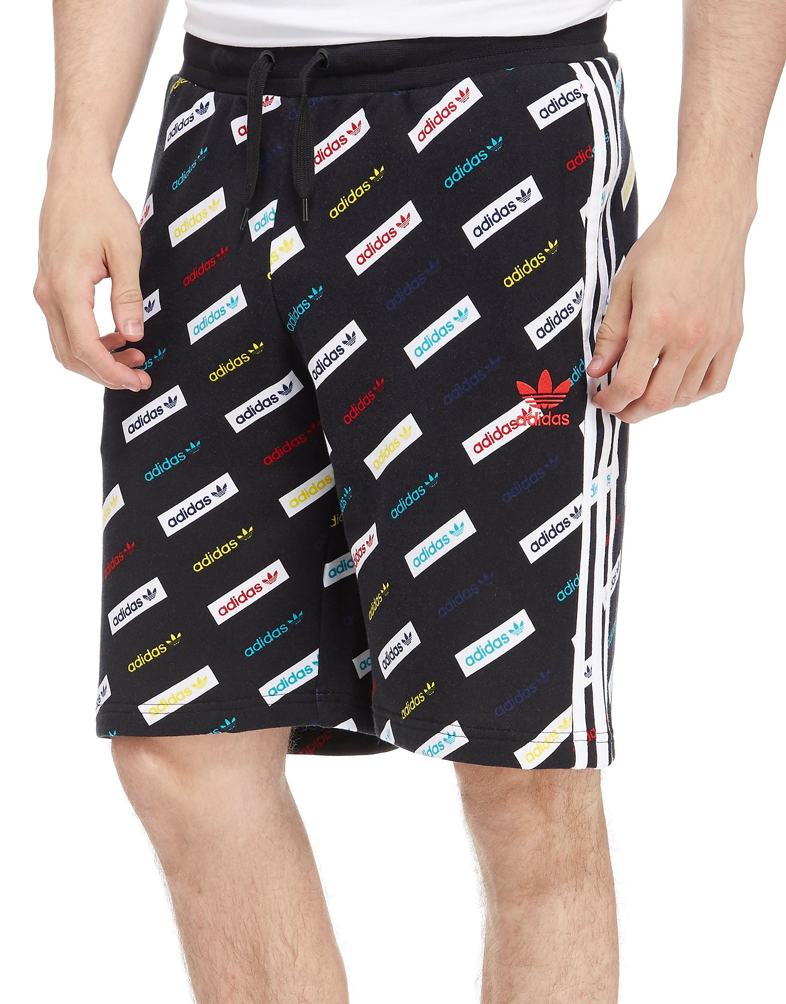 adidas Originals Allover Print Linear Shorts
