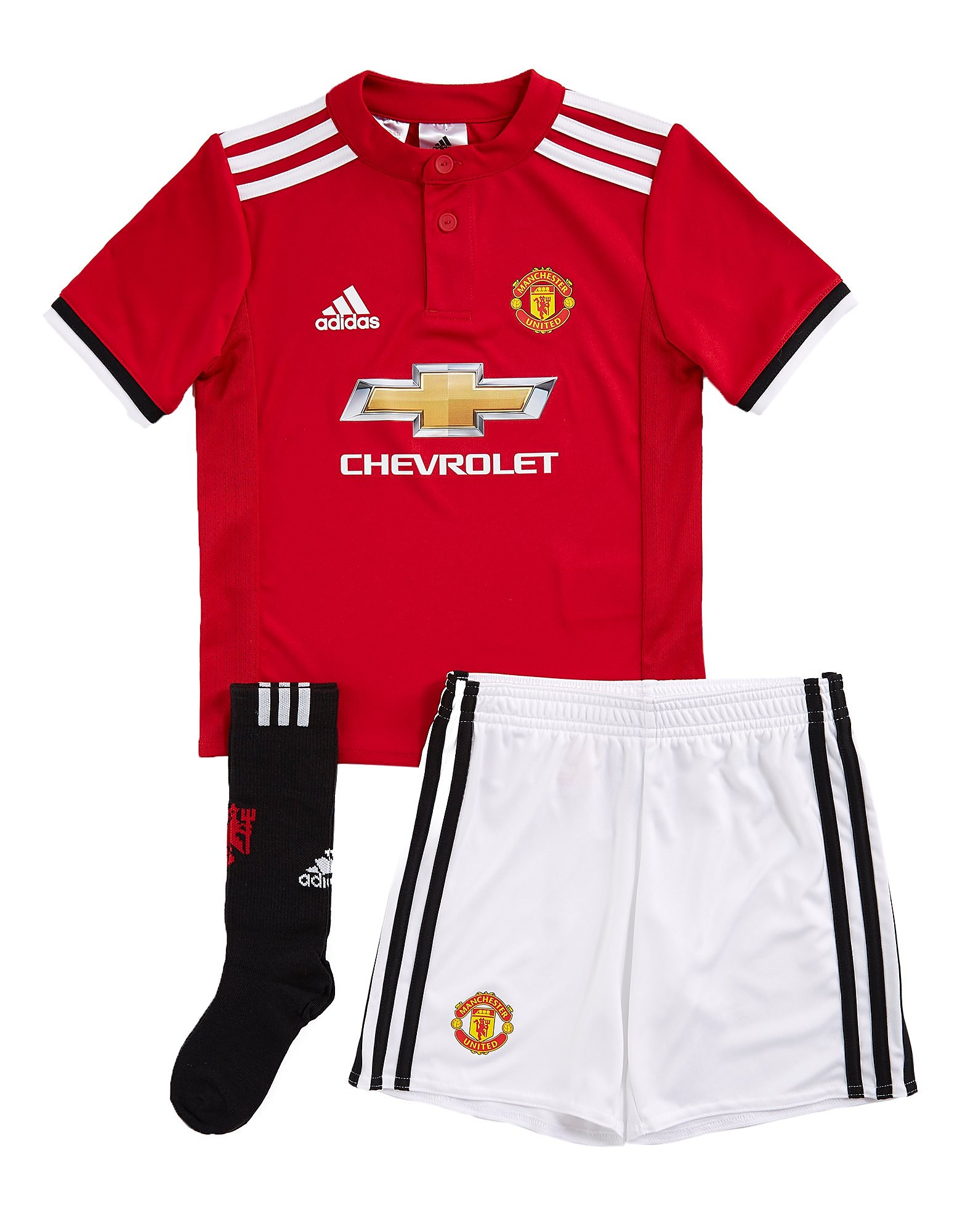 adidas Manchester United 2017/18 Home Kit Childen's