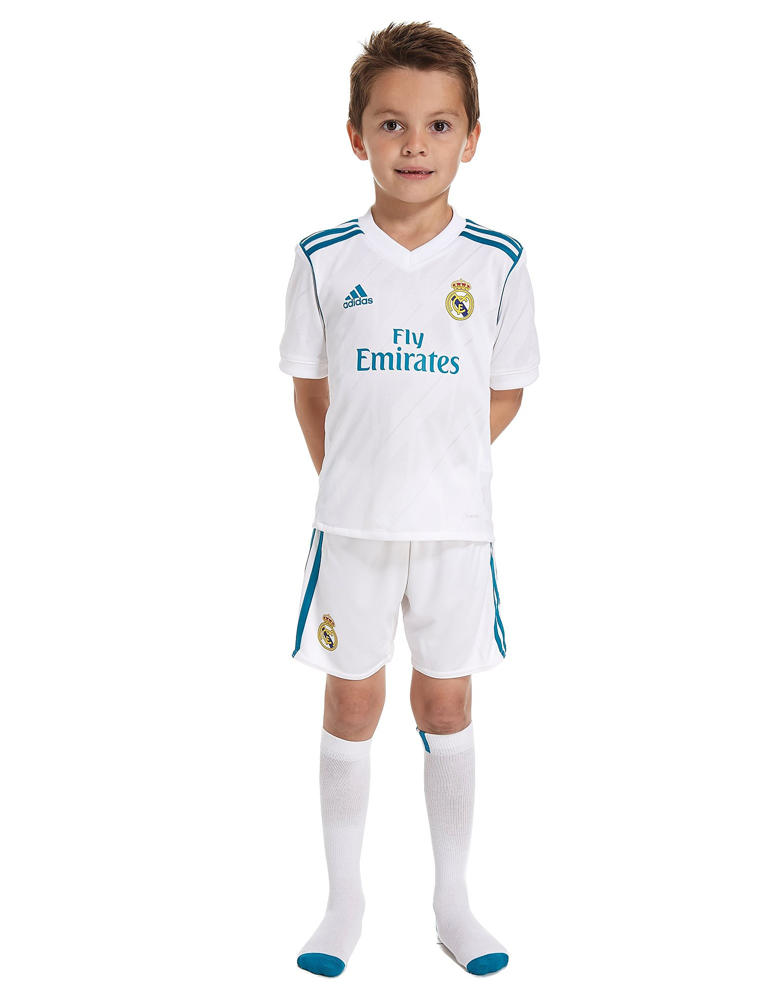 adidas Real Madrid 2017/18 Home Kit Children