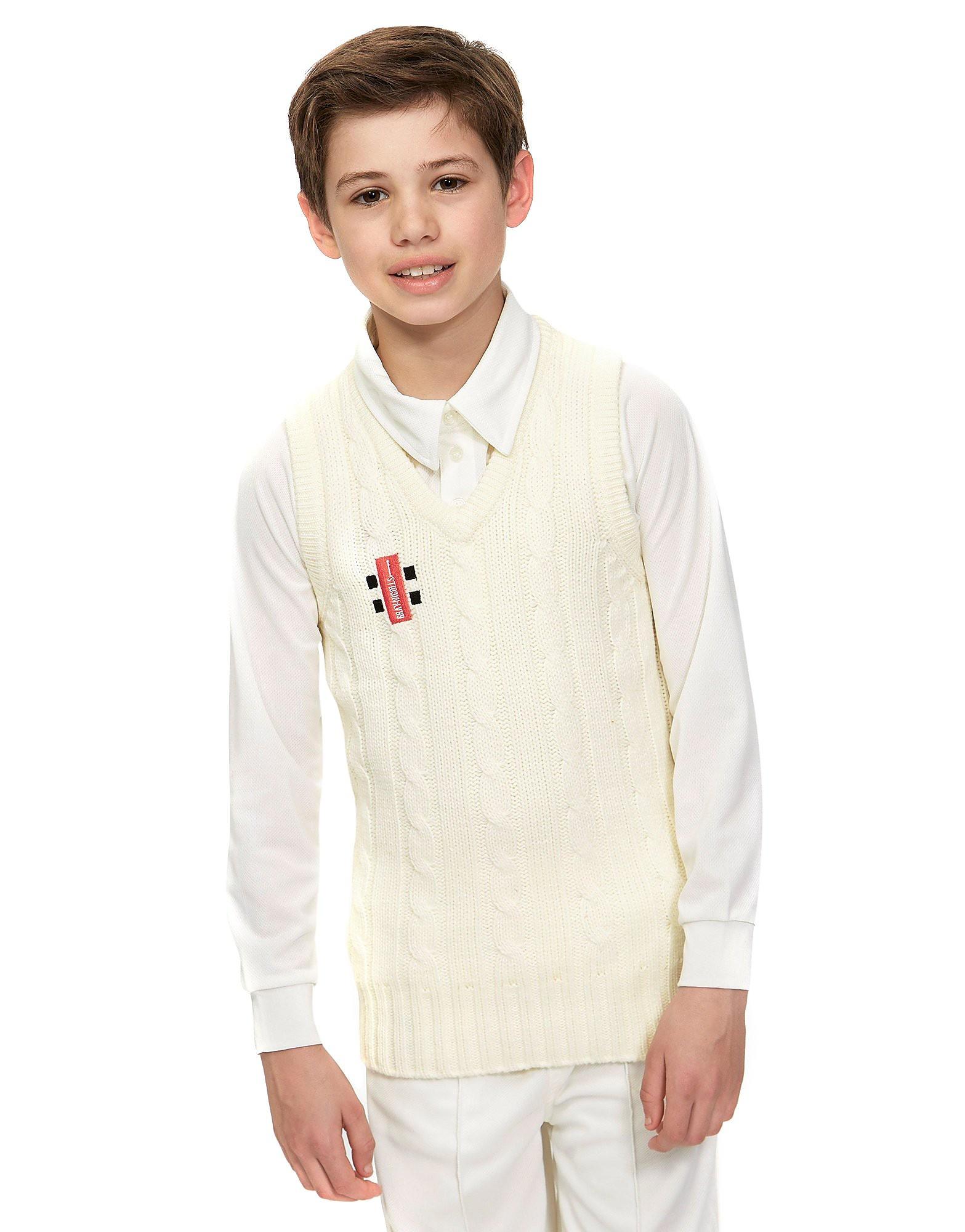 Gray Nicolls Knitted Acrylic Junior Sleeveless Cricket Jumper