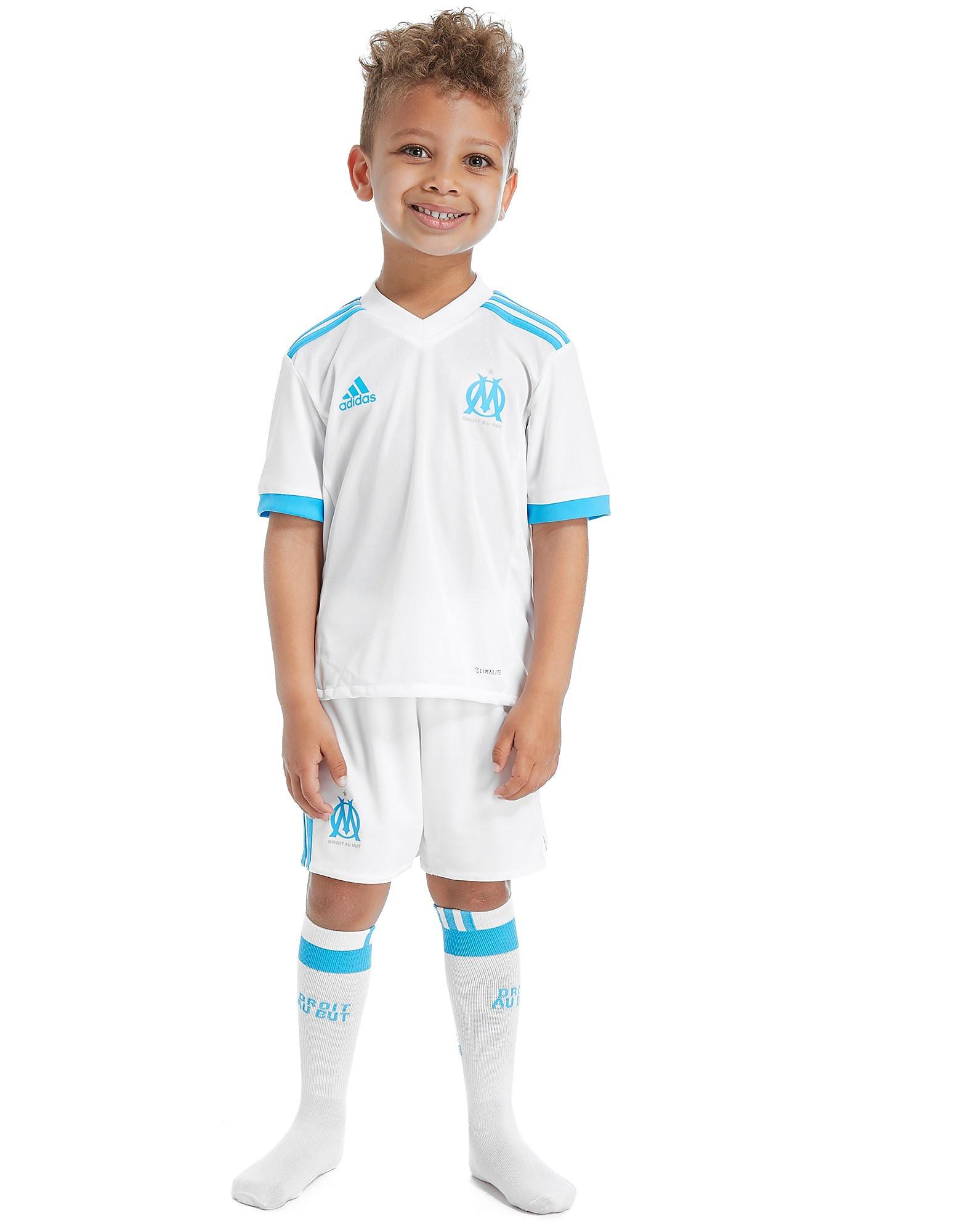 Image de adidas Ensemnble Olympique de Marseille Domocile 2017/18 Enfant - White, White