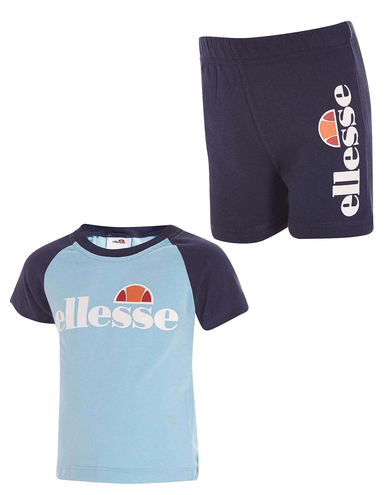 Ellesse Regina T-Shirt/Short Set Infant - alleen bij JD - Sky Blue/Navy Blue - Kind