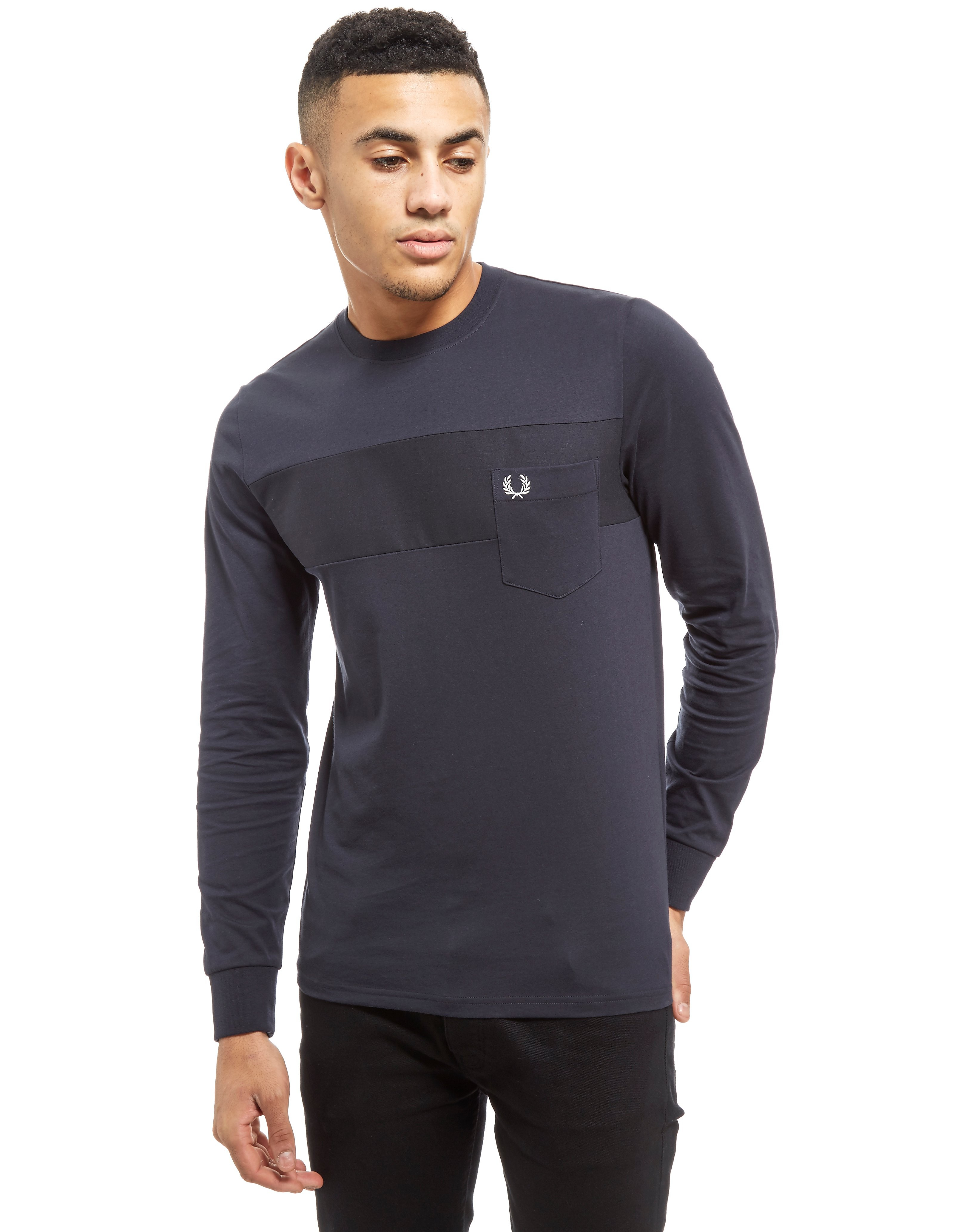 Fred Perry Long Sleeve Textured T-Shirt