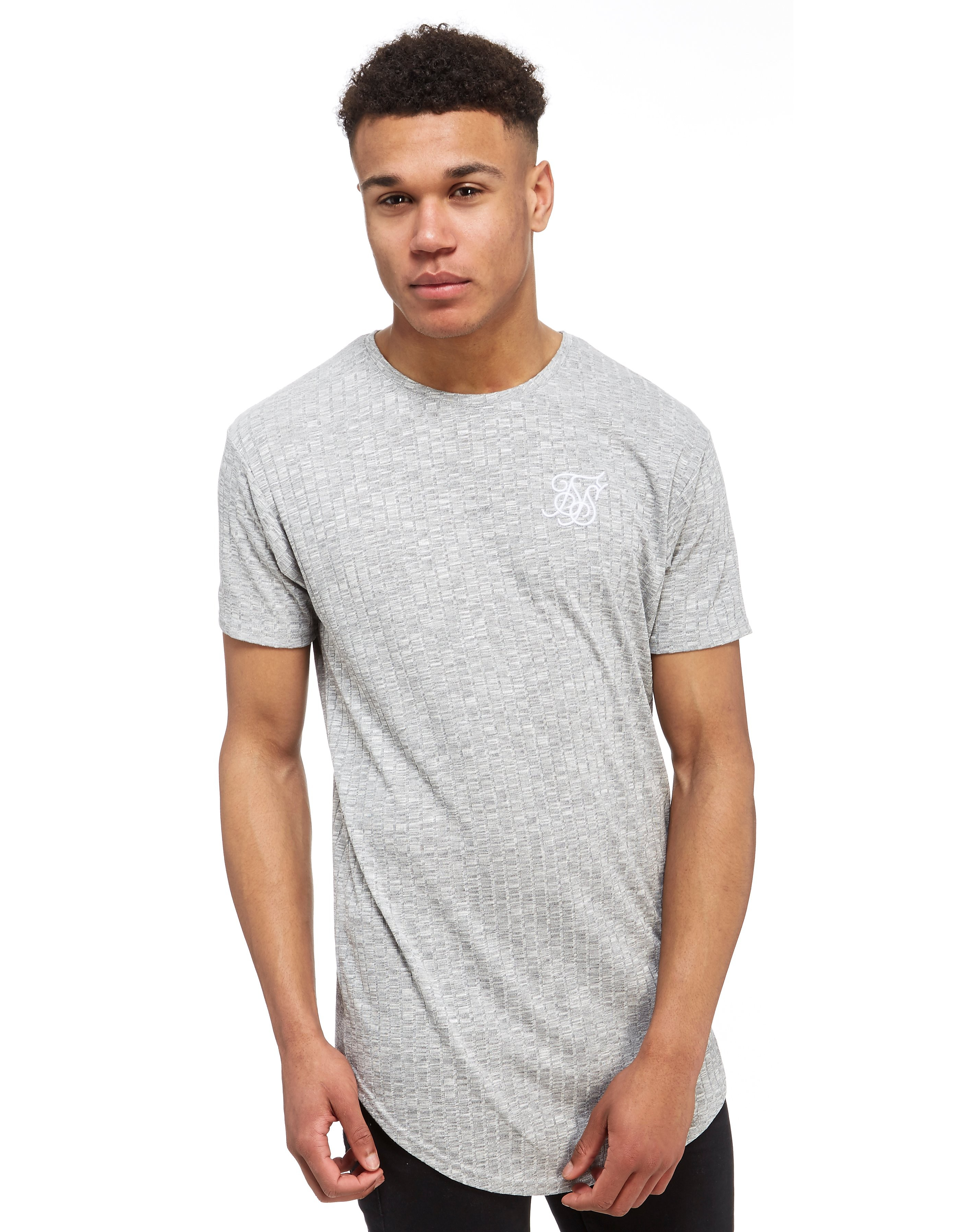 SikSilk Rib Knit T-Shirt