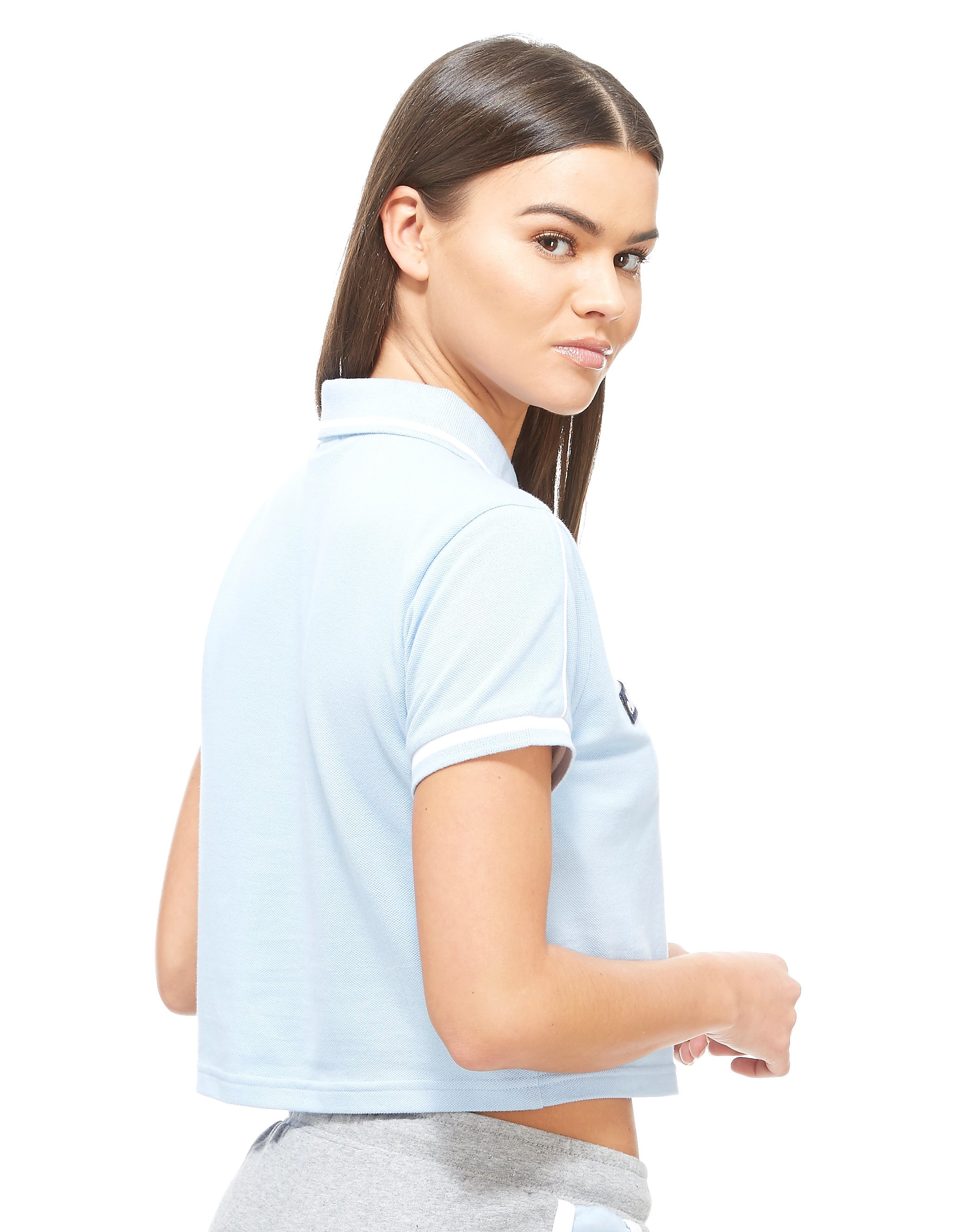 Ellesse Crop Zip Polo Shirt