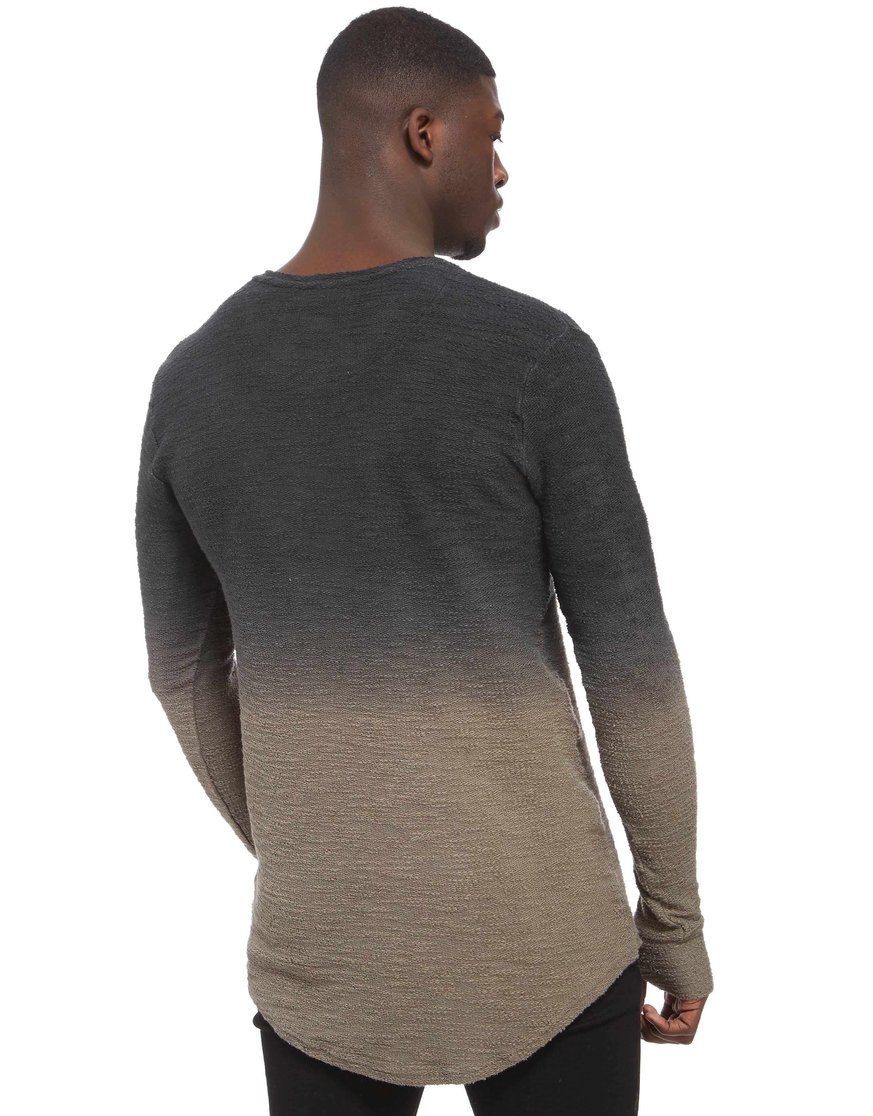 SikSilk Fade Flannel Longsleeve T-Shirt