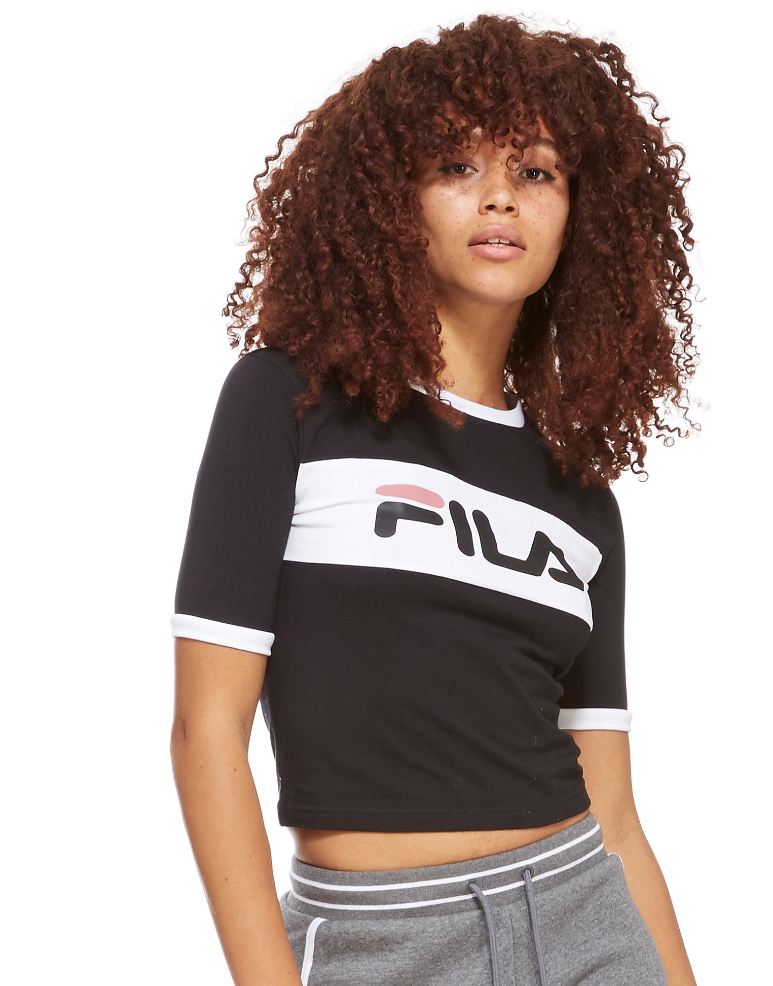 Image of   Fila Paige Panel Crop T-shirt