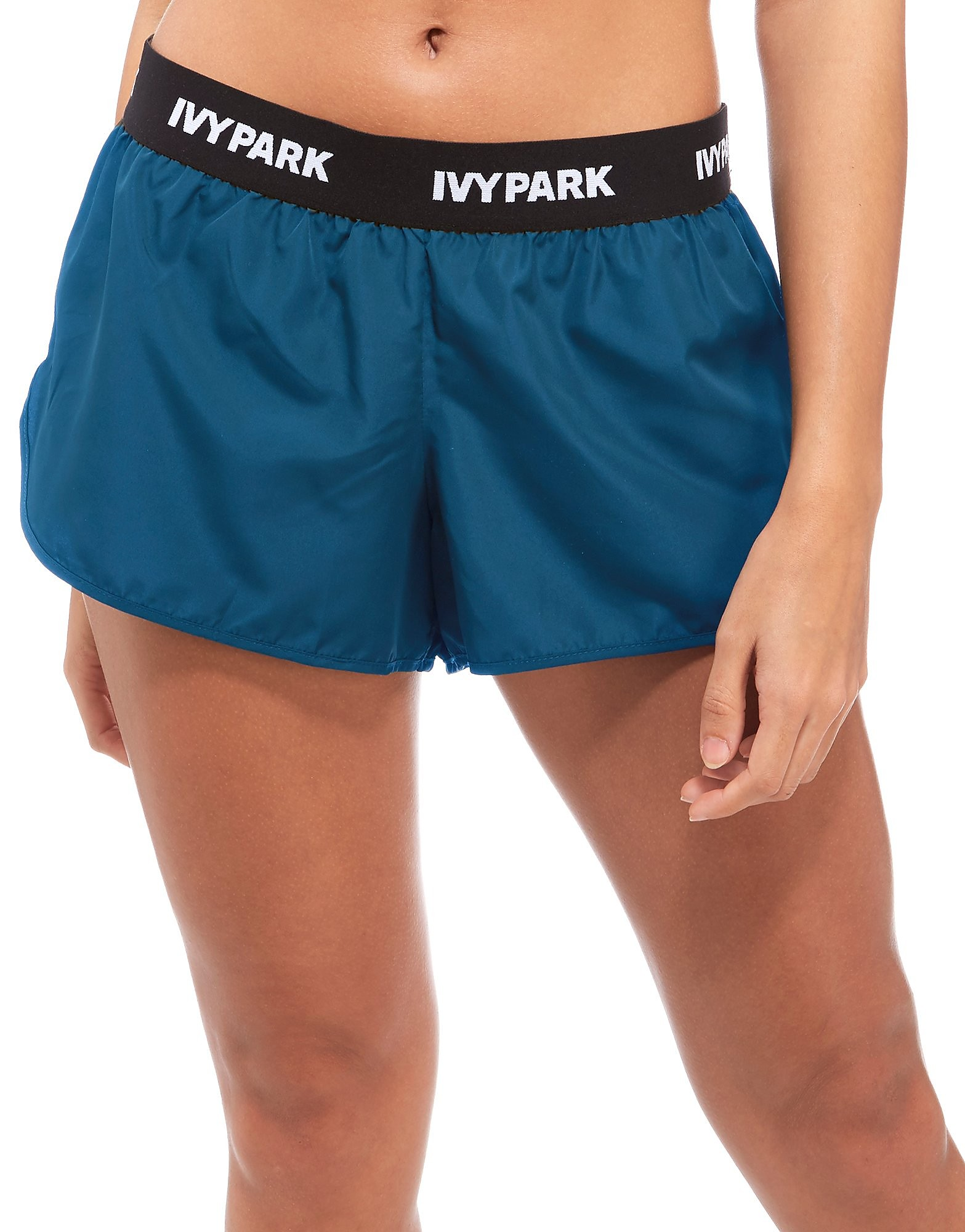 IVY PARK Runner Shorts Teal Black