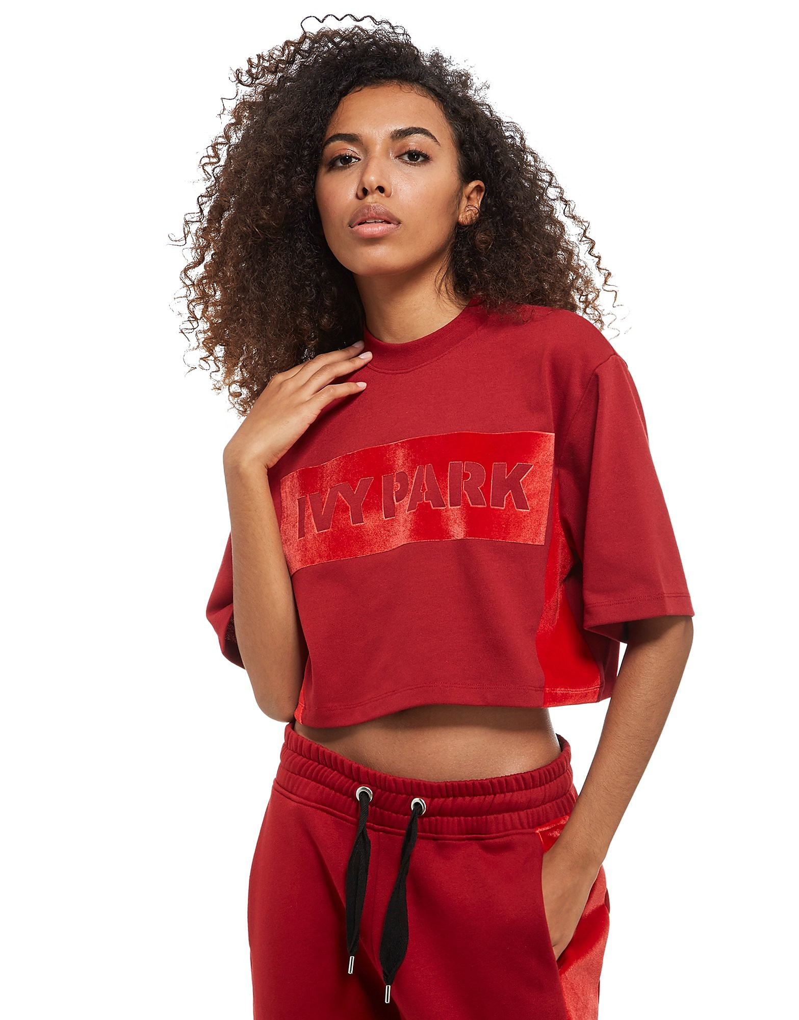 IVY PARK Velvet Panel Crop Top