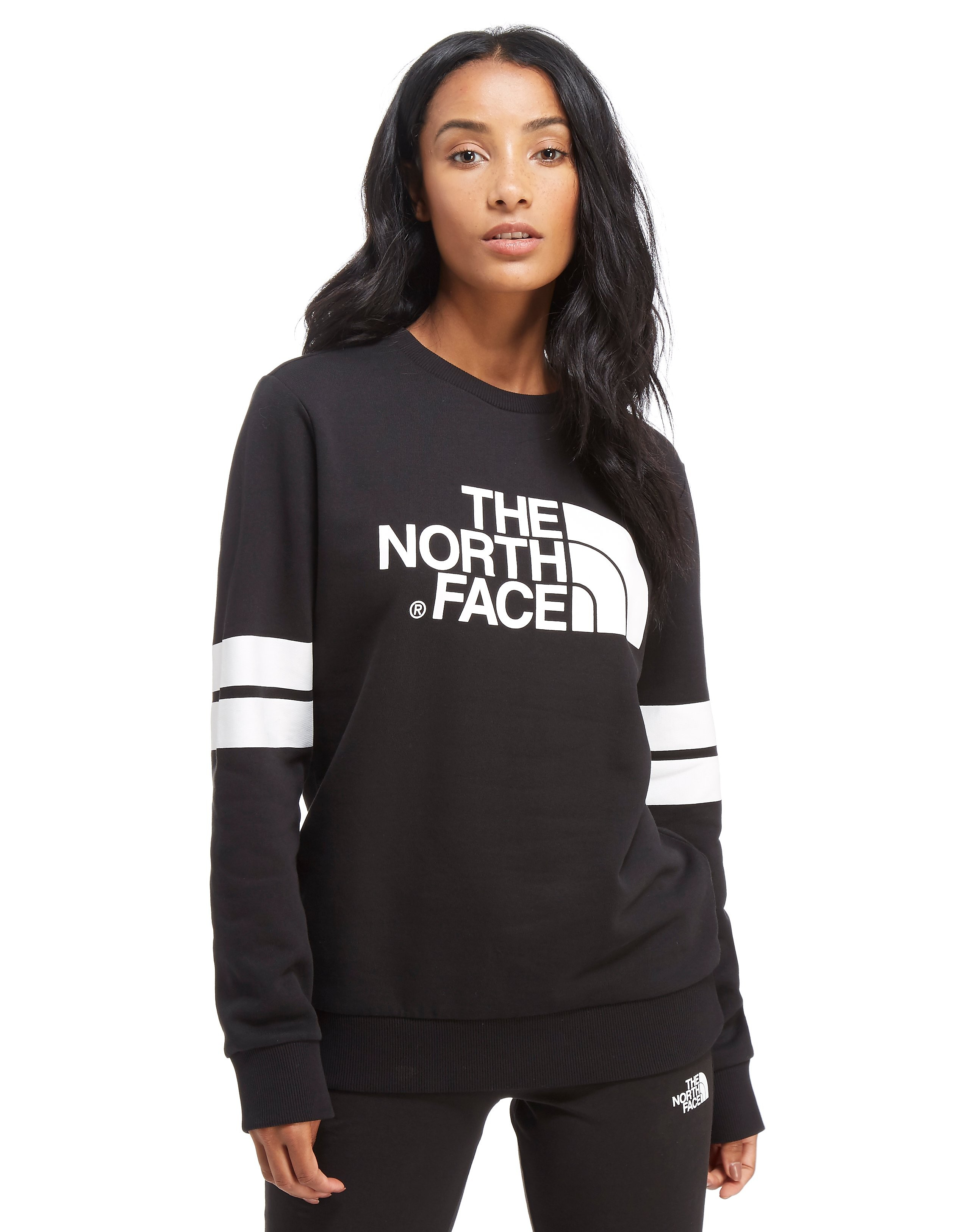 The North Face Stripe Sleeve Crew Felpa Donna