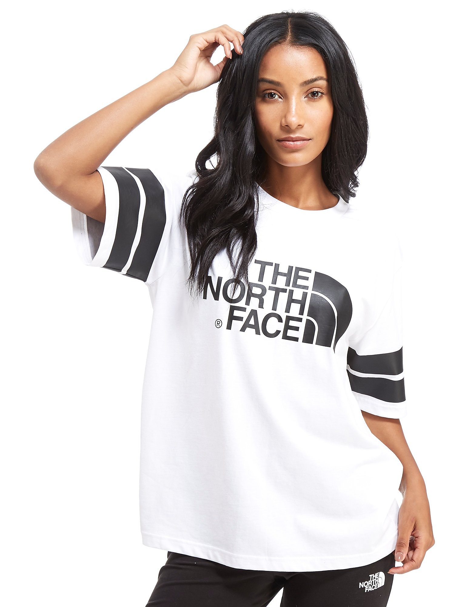 The North Face T-shirt Stripe Sleeve Femme