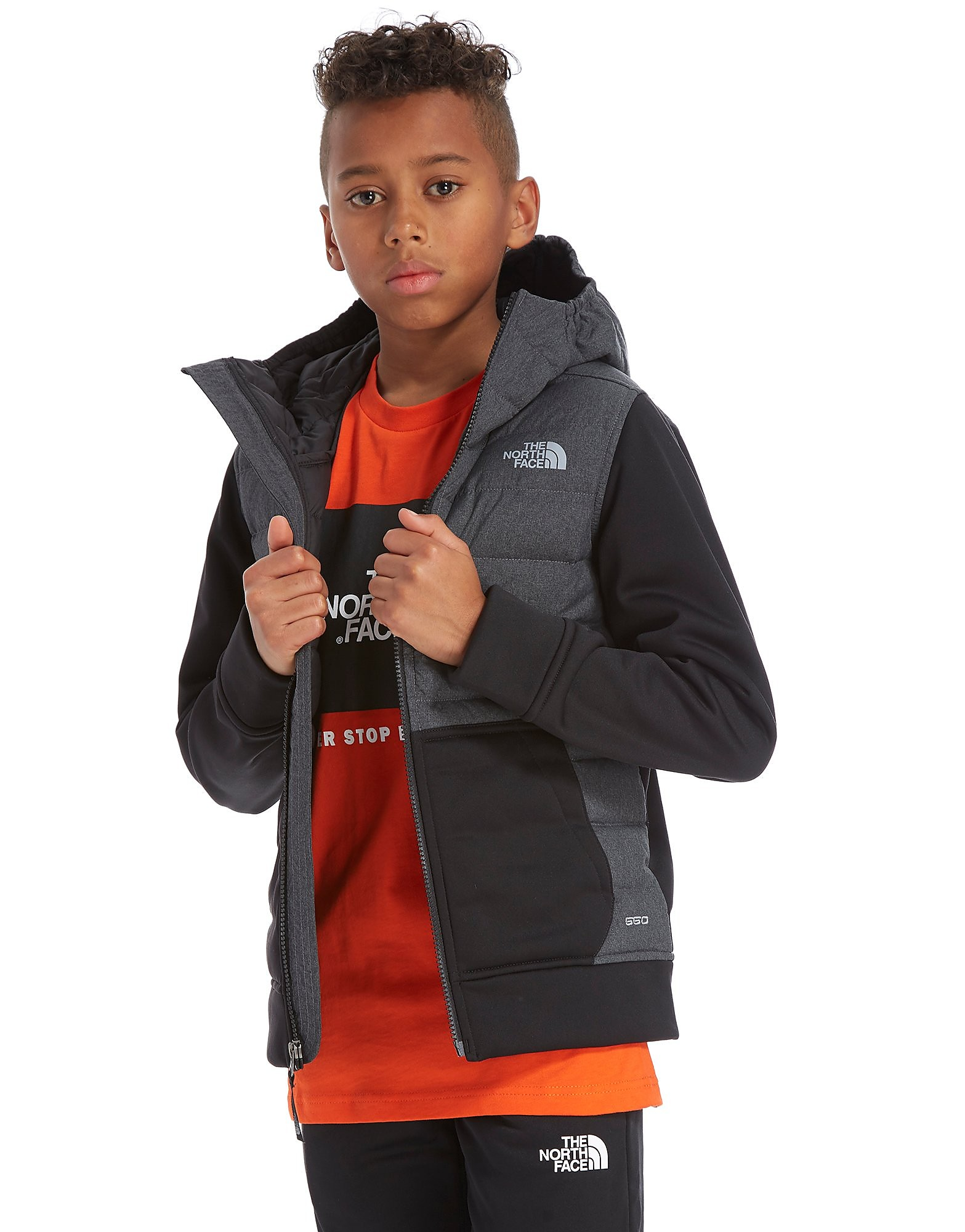 The North Face chaqueta con capucha Mittelegi Down júnior