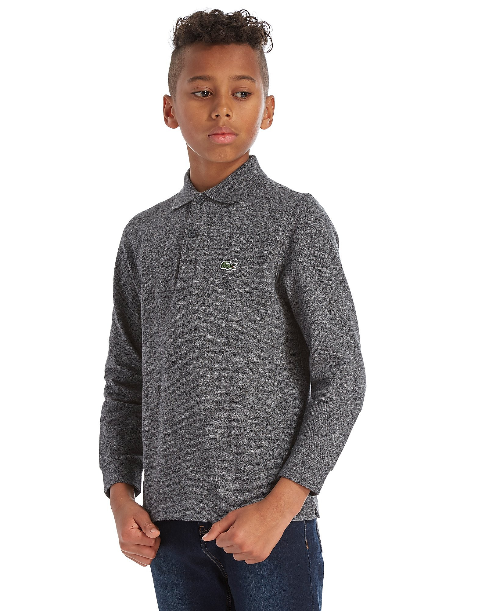Lacoste Long Sleeve Sport Polo Shirt Junior - Grijs - Kind