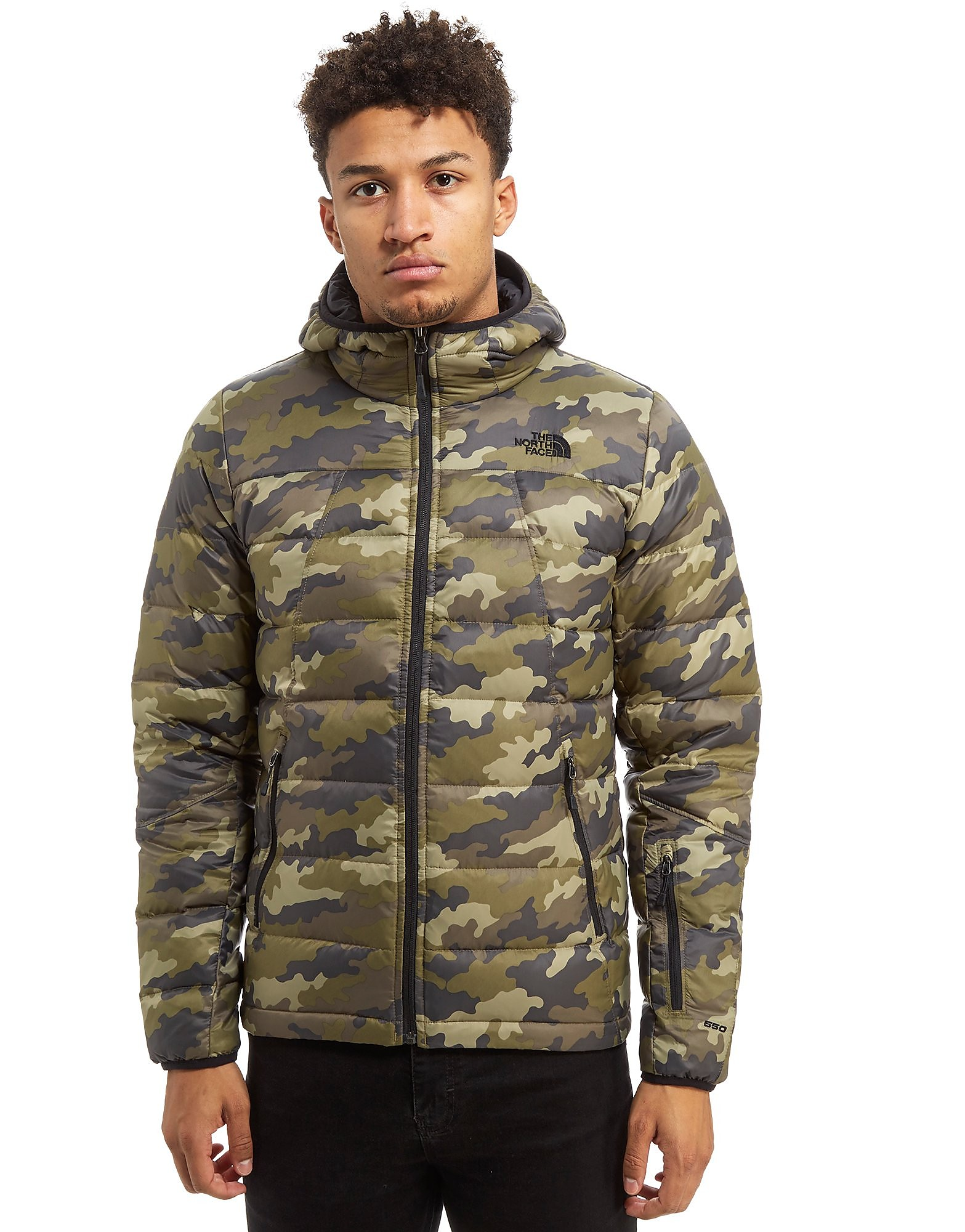 The North Face Shark Down Padded Jacket Heren - alleen bij JD - Camo - Heren