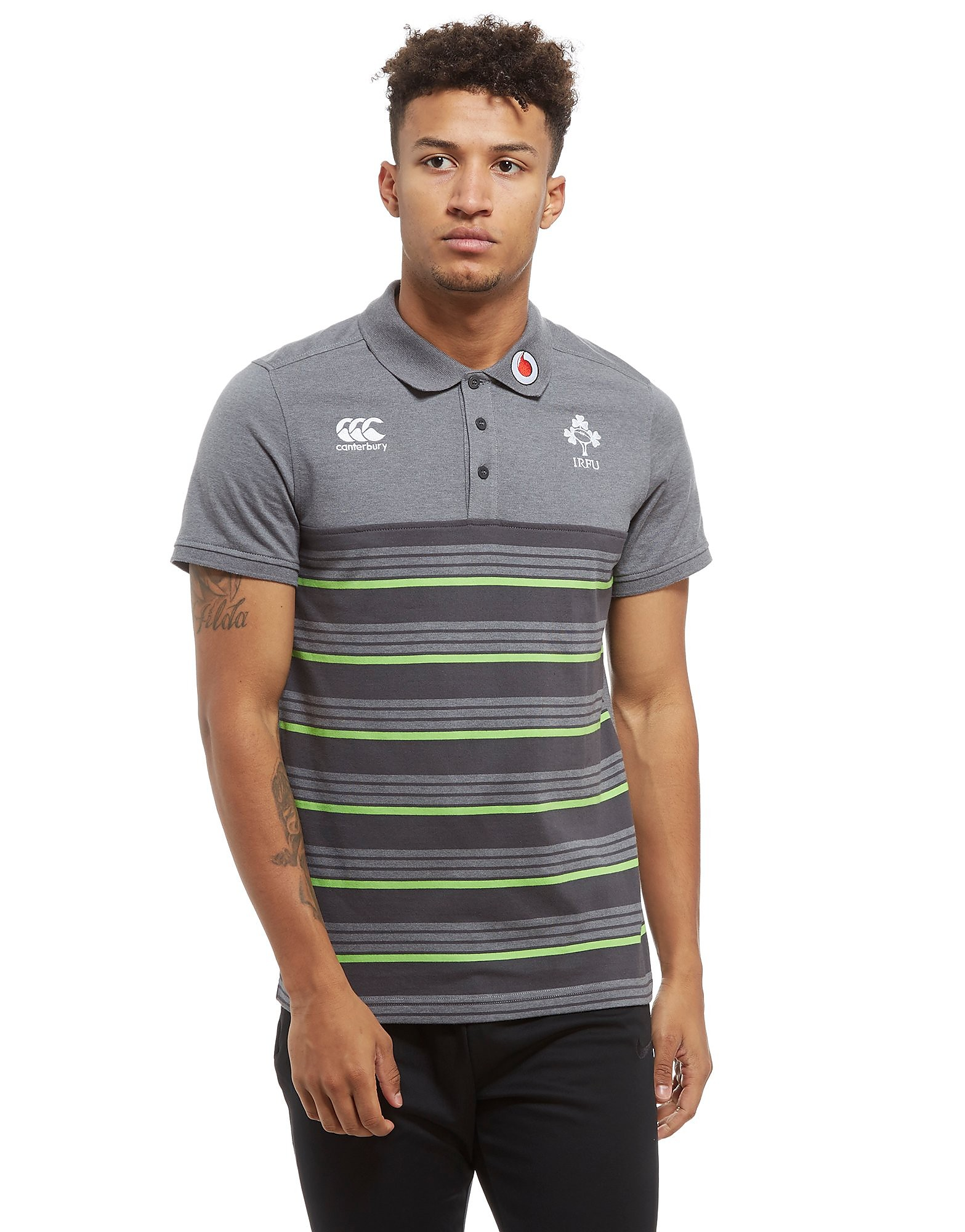 Canterbury Ireland RFU Stripe Polo Shirt