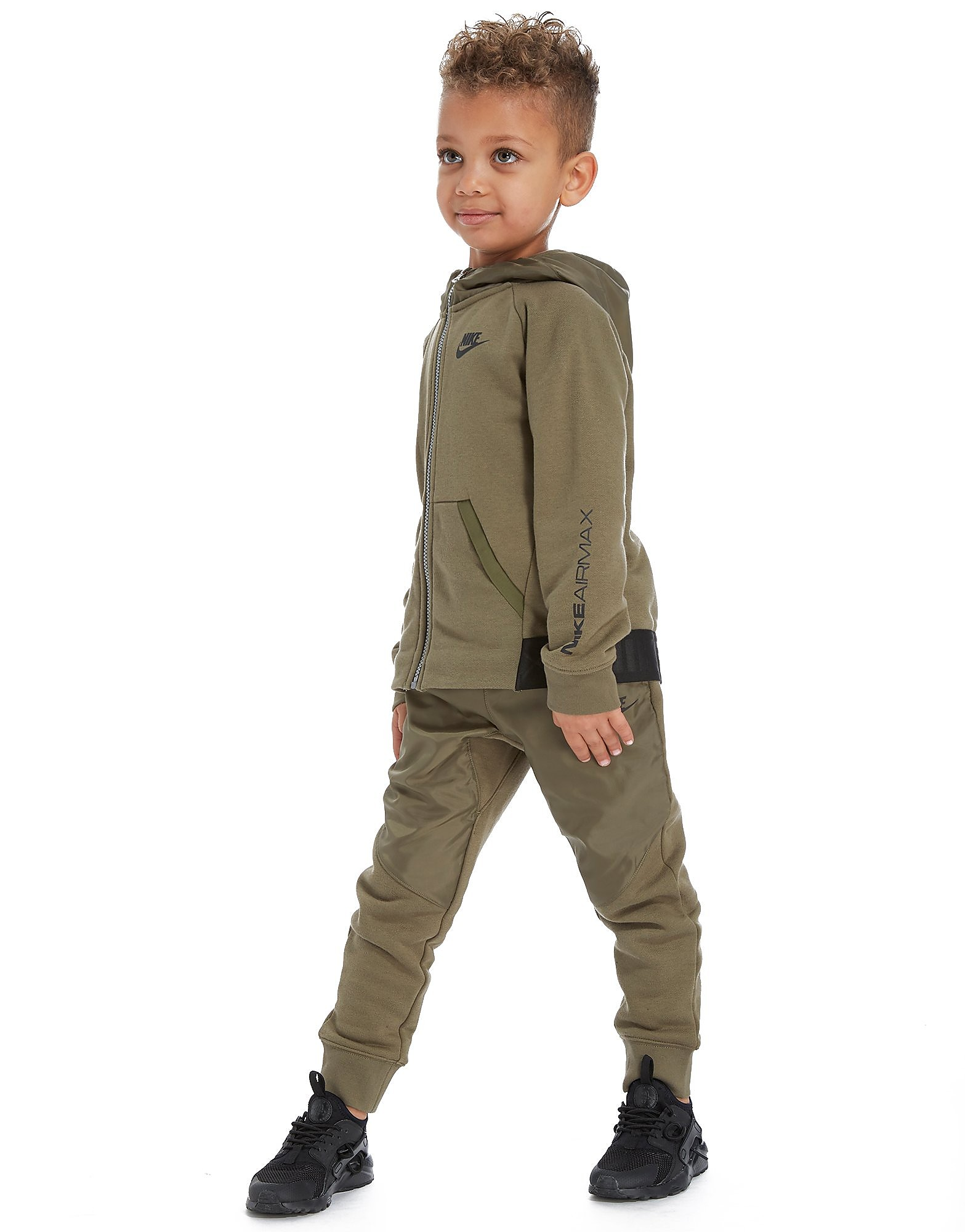 Nike Air Max Fleece Voller Reißverschluss Anzug Kleinkind