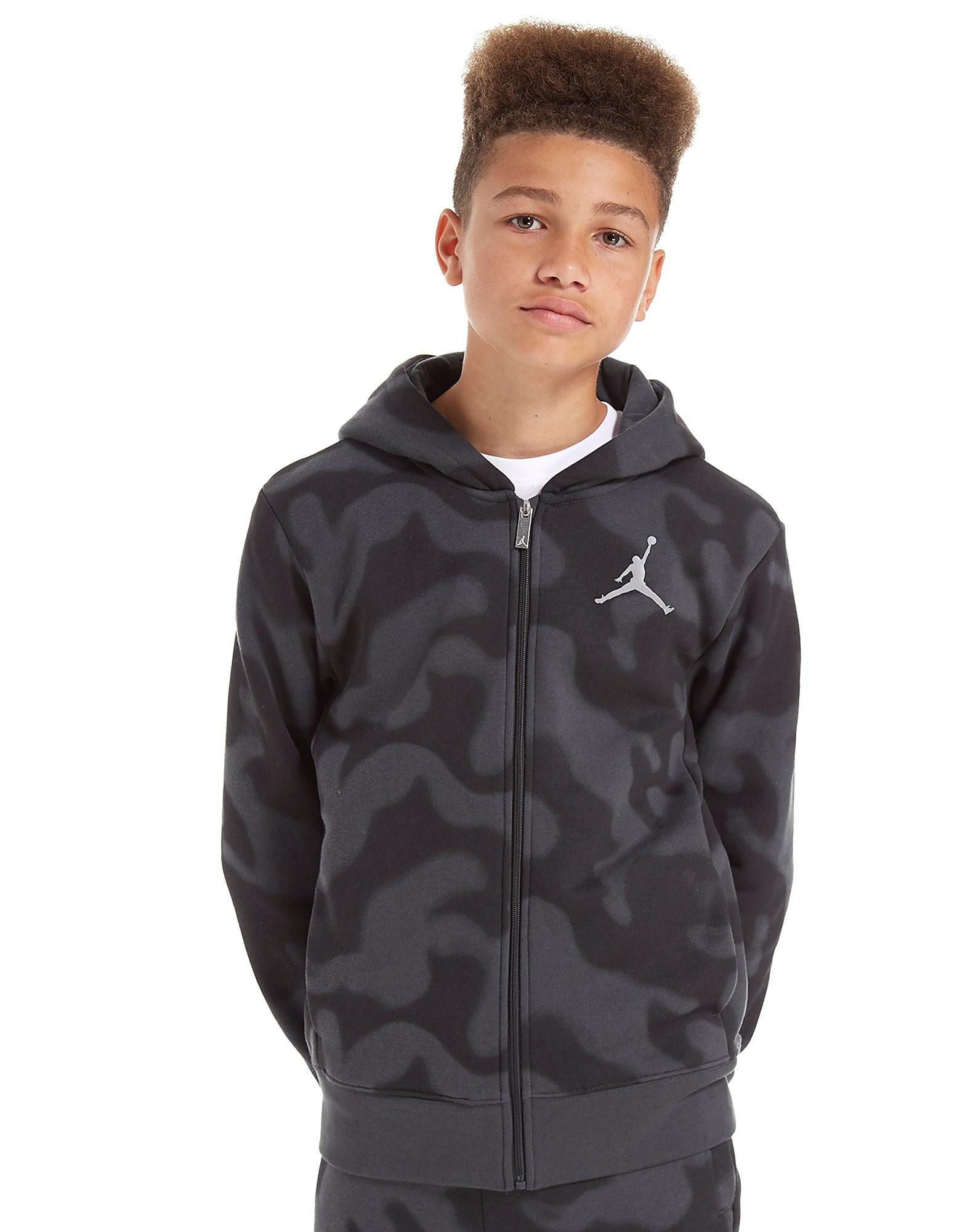 Jordan Flight Camo Full-Zip Hoodie Junior
