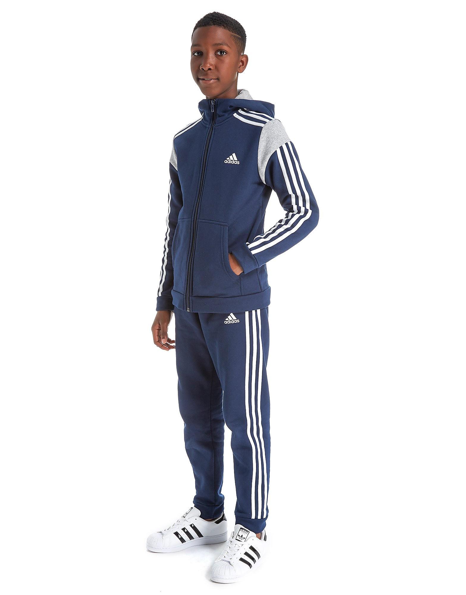 adidas Fleece Panel Tracksuit Junior
