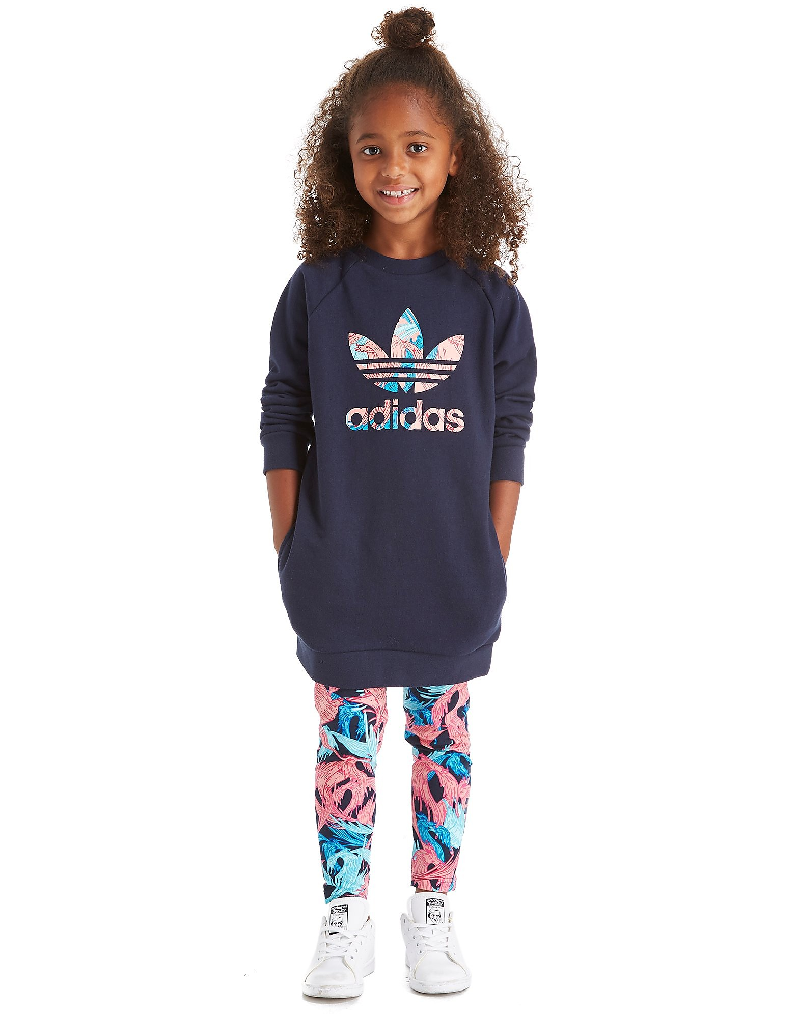 adidas Originals Girls' Feather Crew Set Children