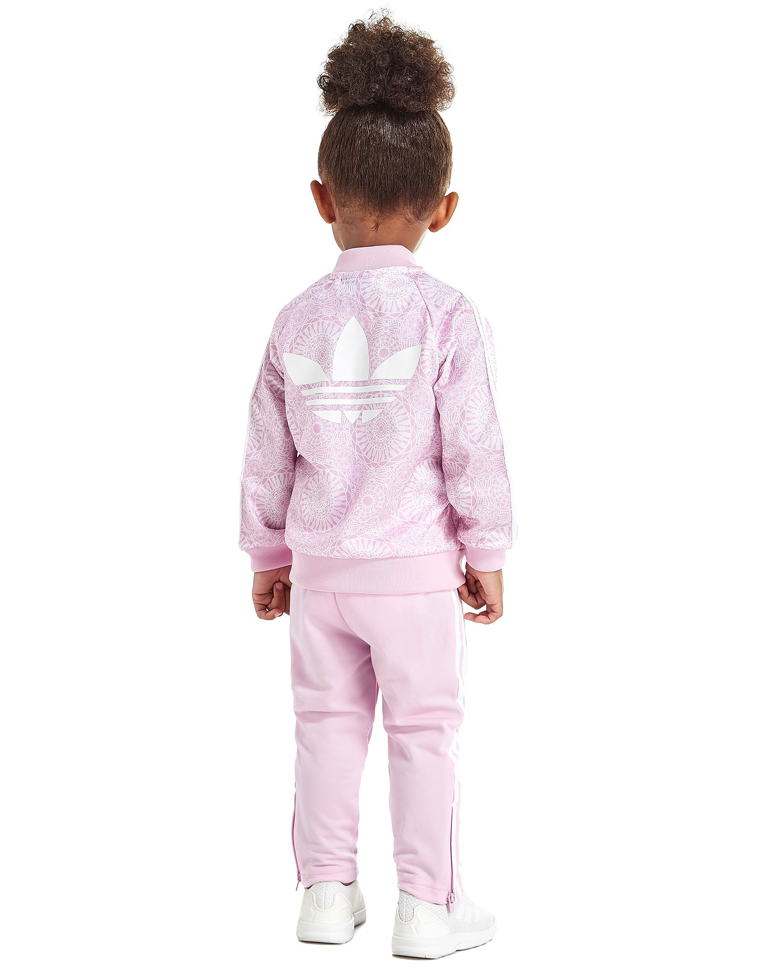 adidas Originals Girls Allover Print Superstar Tracksuit Infant