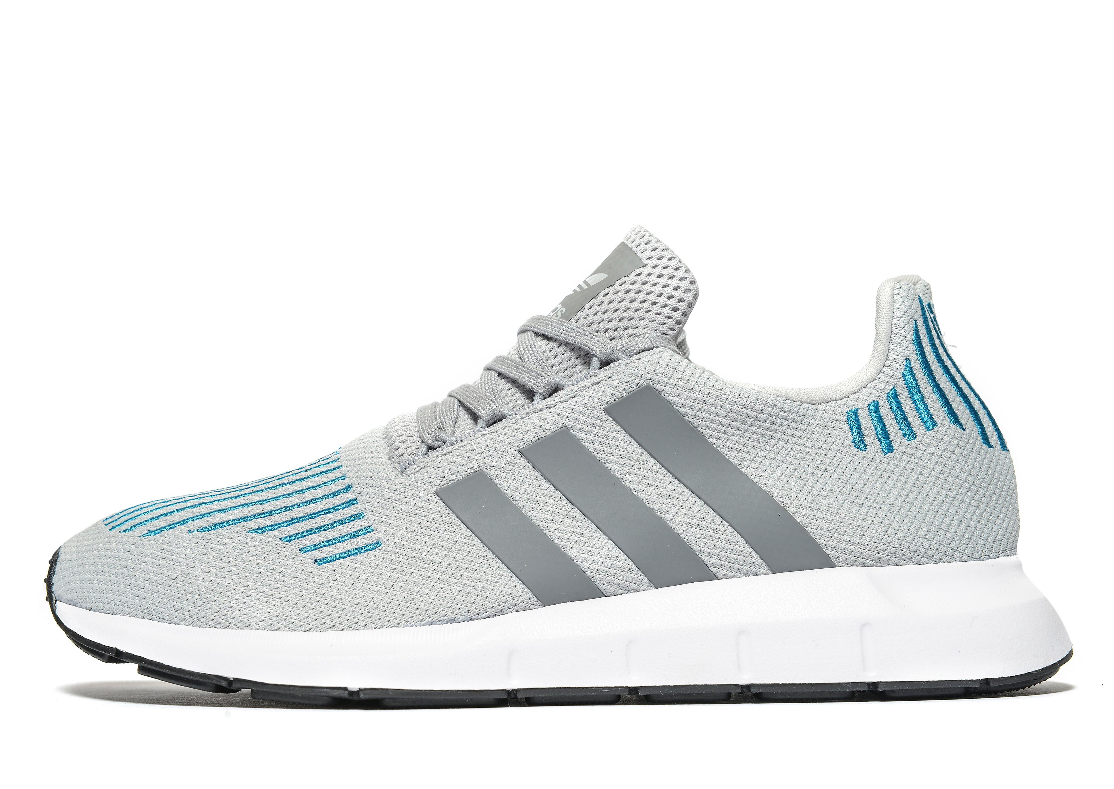 adidas Originals Swift Run Homme - Grey/Blue/White, Grey/Blue/White
