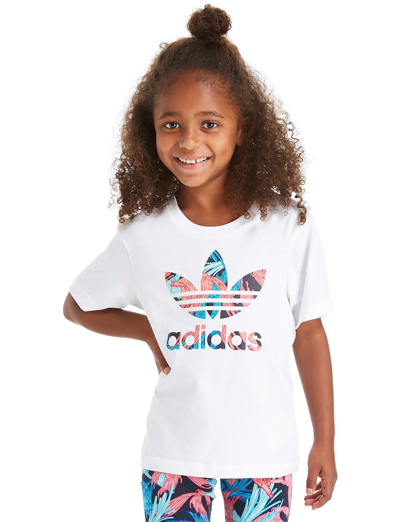 adidas Originals Girls' Infil Feather T-Shirt Children