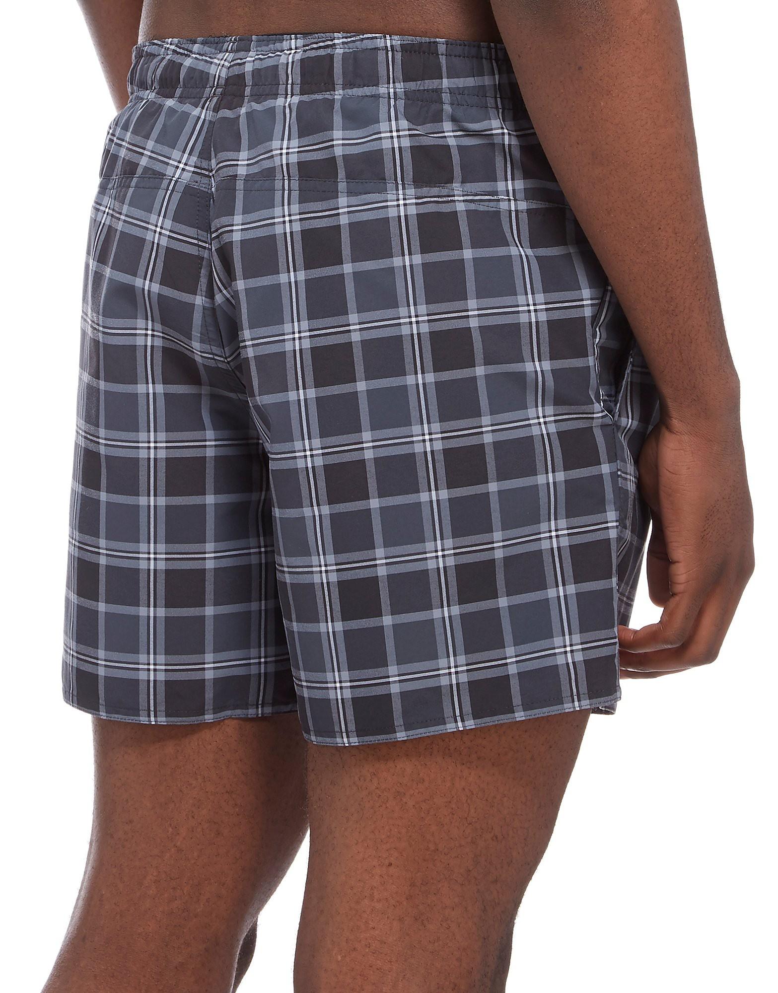 adidas 3 Stripe Check Swimming Shorts