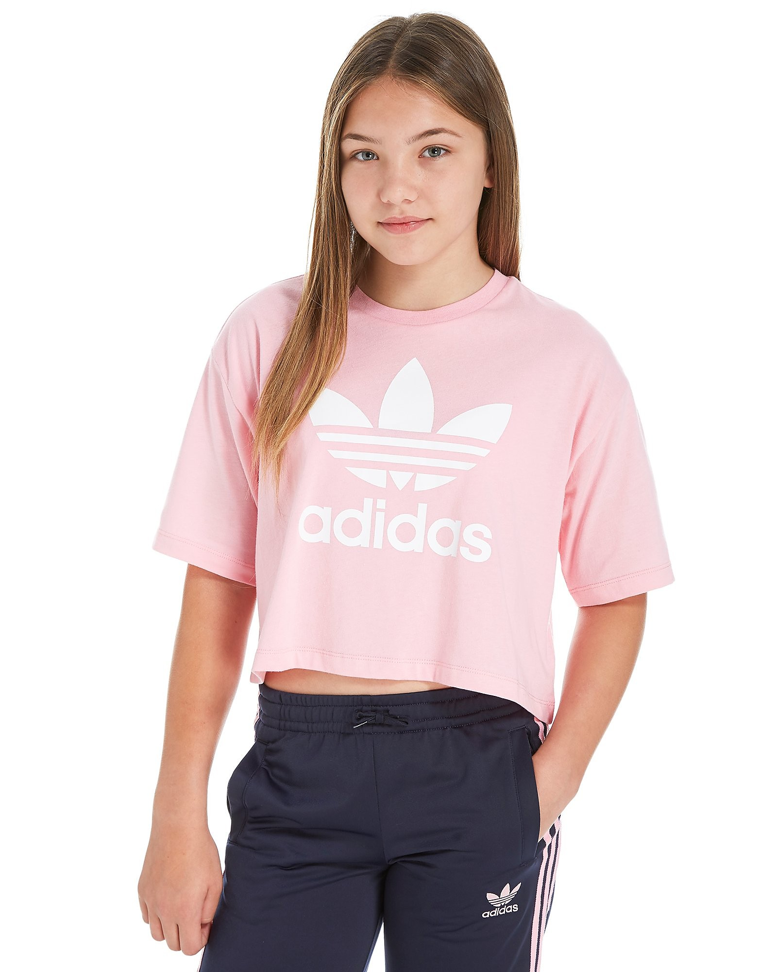 adidas Originals Girls' Trefoil Crop T-Shirt Junior