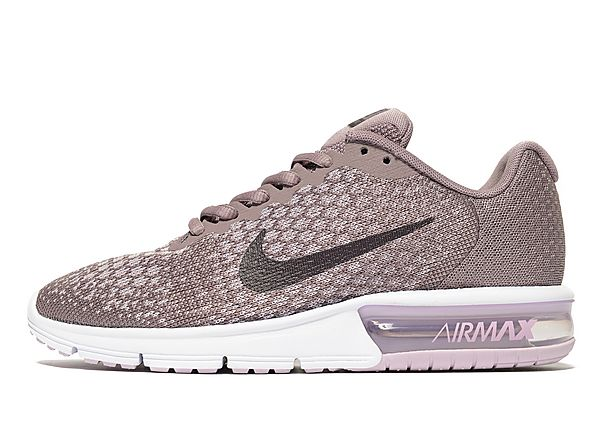 Air Max Sequent 2 Women's - Taupe Grey/Port Wine LIFESTYLE