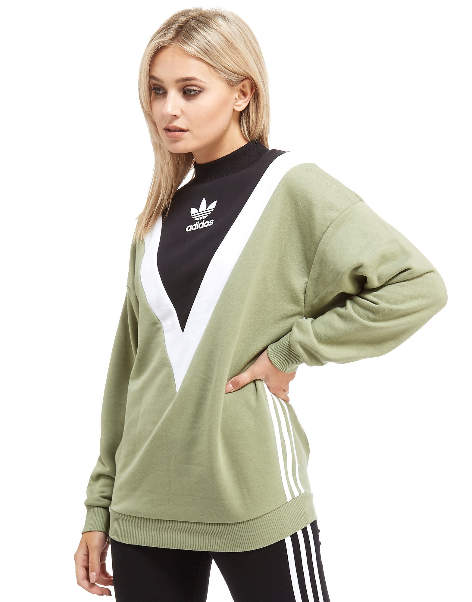 quality design 44124 ae30a Adidas Originals Chevron Sweatshirt Dames - alleen bij JD - Light  KhakiBlack - Dames
