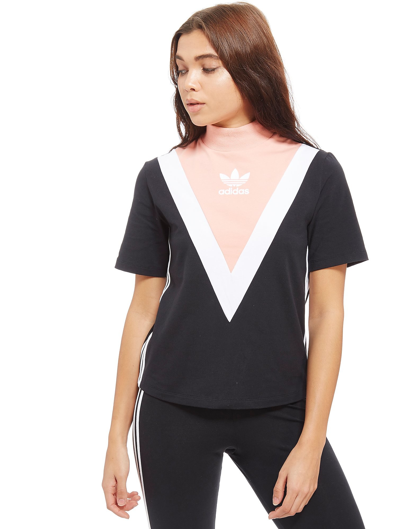 adidas Originals High Neck Chevron T-Shirt