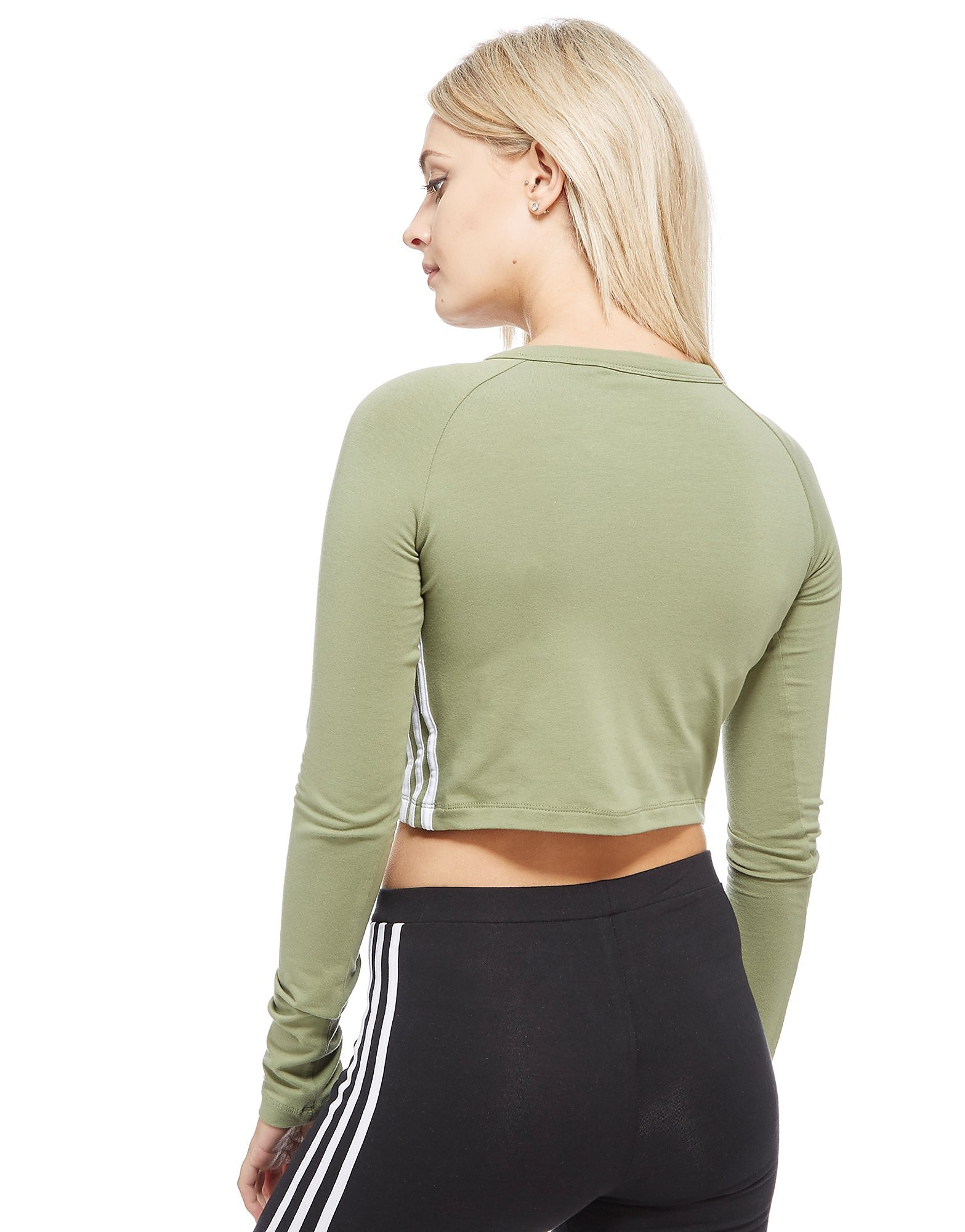 adidas Originals 3-Stripe Long Sleeve Crop Dames
