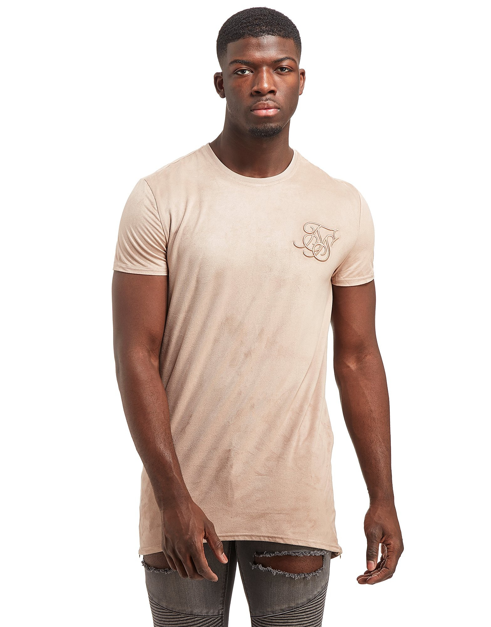 SikSilk Suede Curve T-Shirt