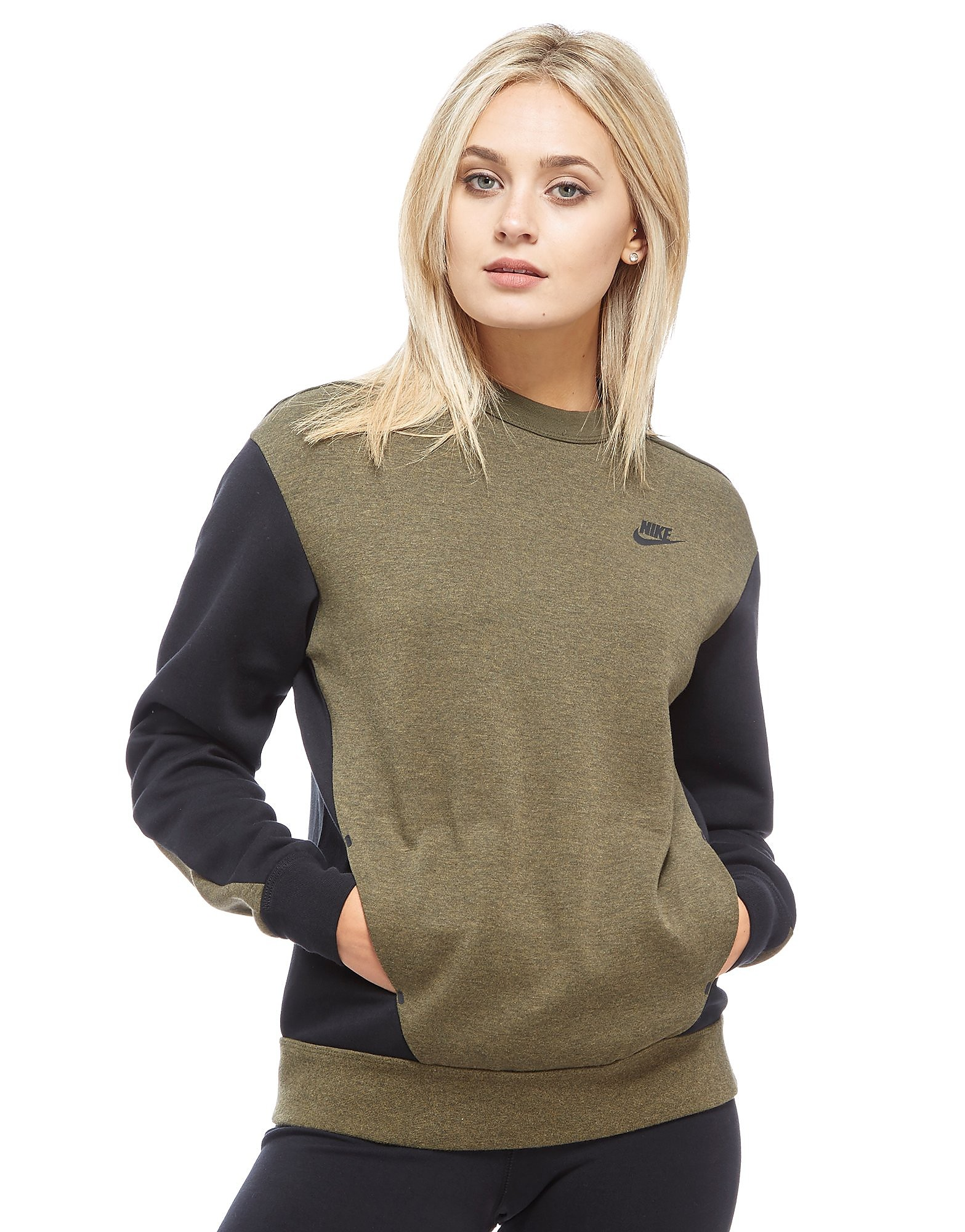 Nike Tech Fleece Colourblock Crew Sweatshirt