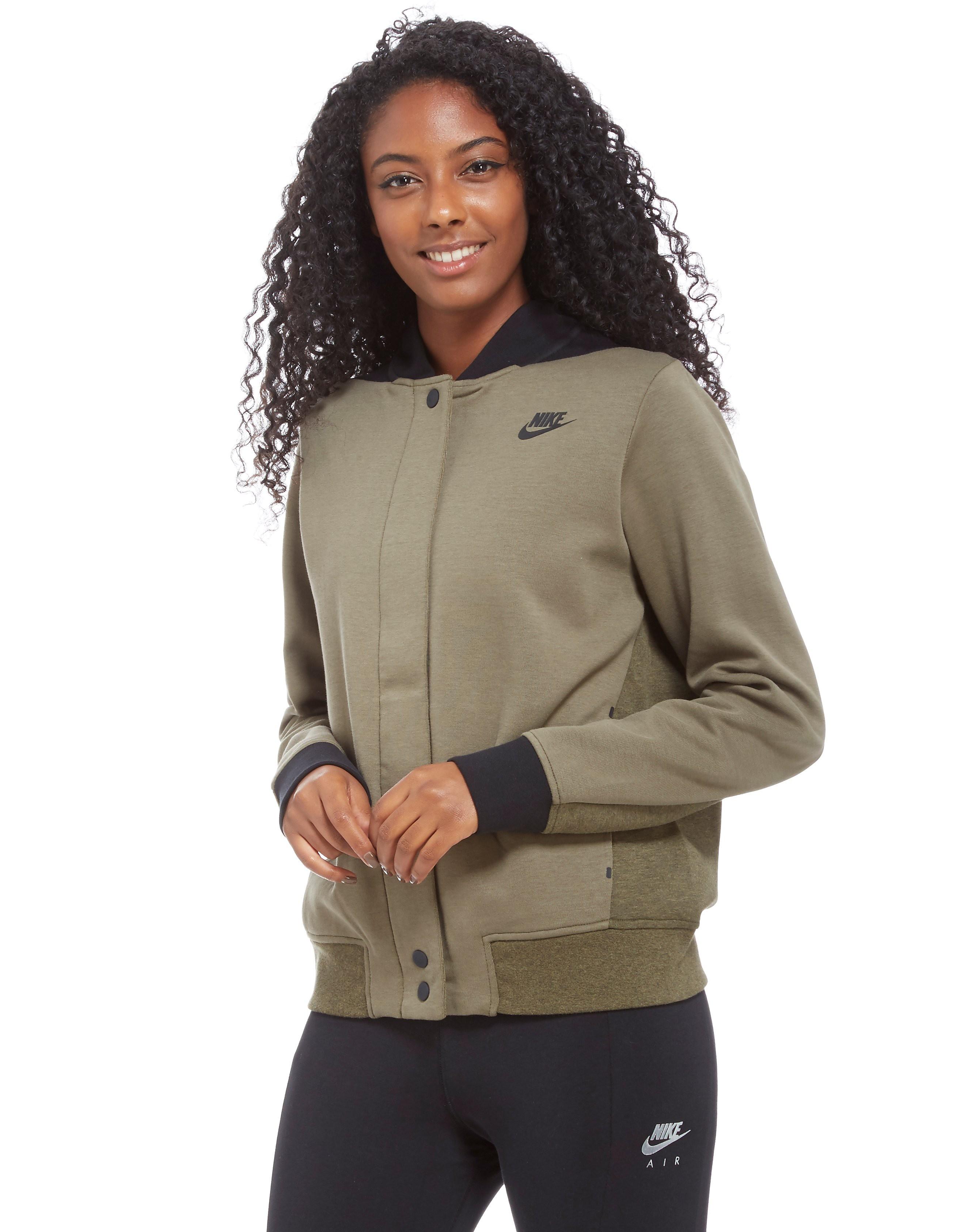 Nike Tech Fleece Destroyer Bomber Jacket - vert/noir, vert/noir