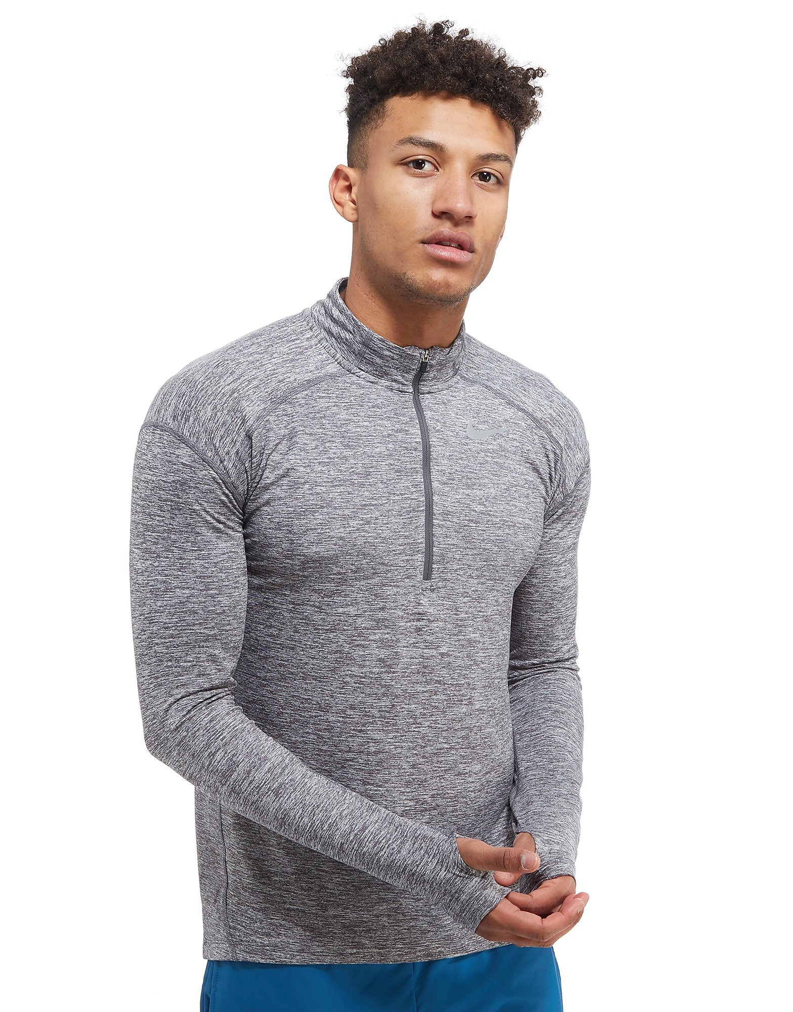 Nike Dry Element 1/2 Zip Running Top Heren - Dark Grey Heather - Heren