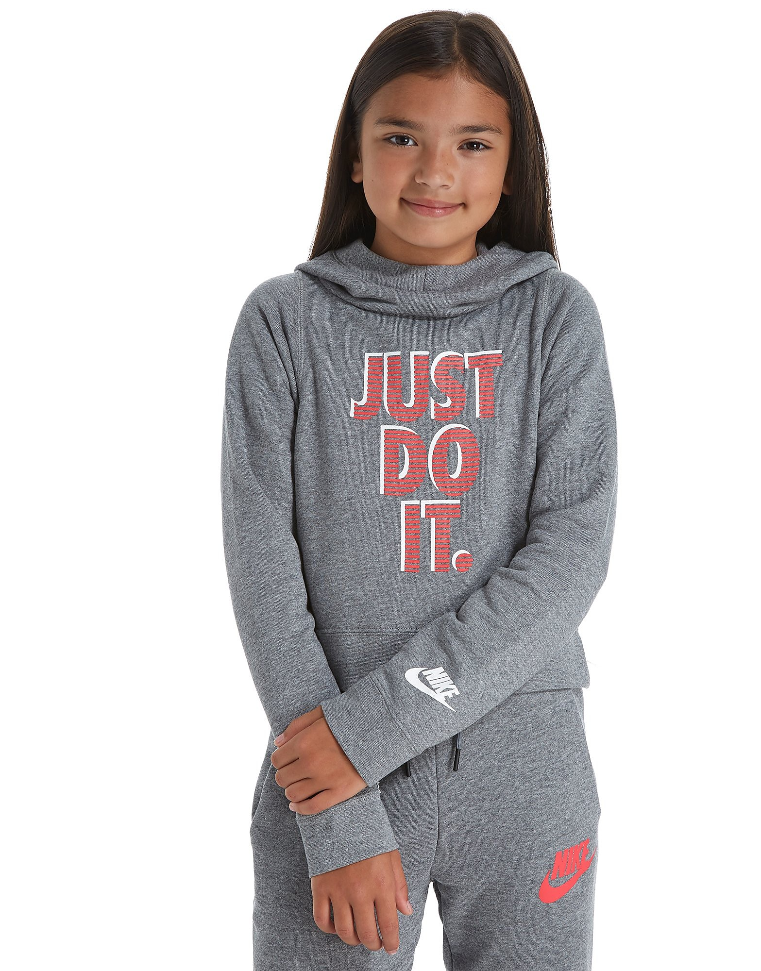 Nike Girls' Just Do It Cropped Hoody Junior