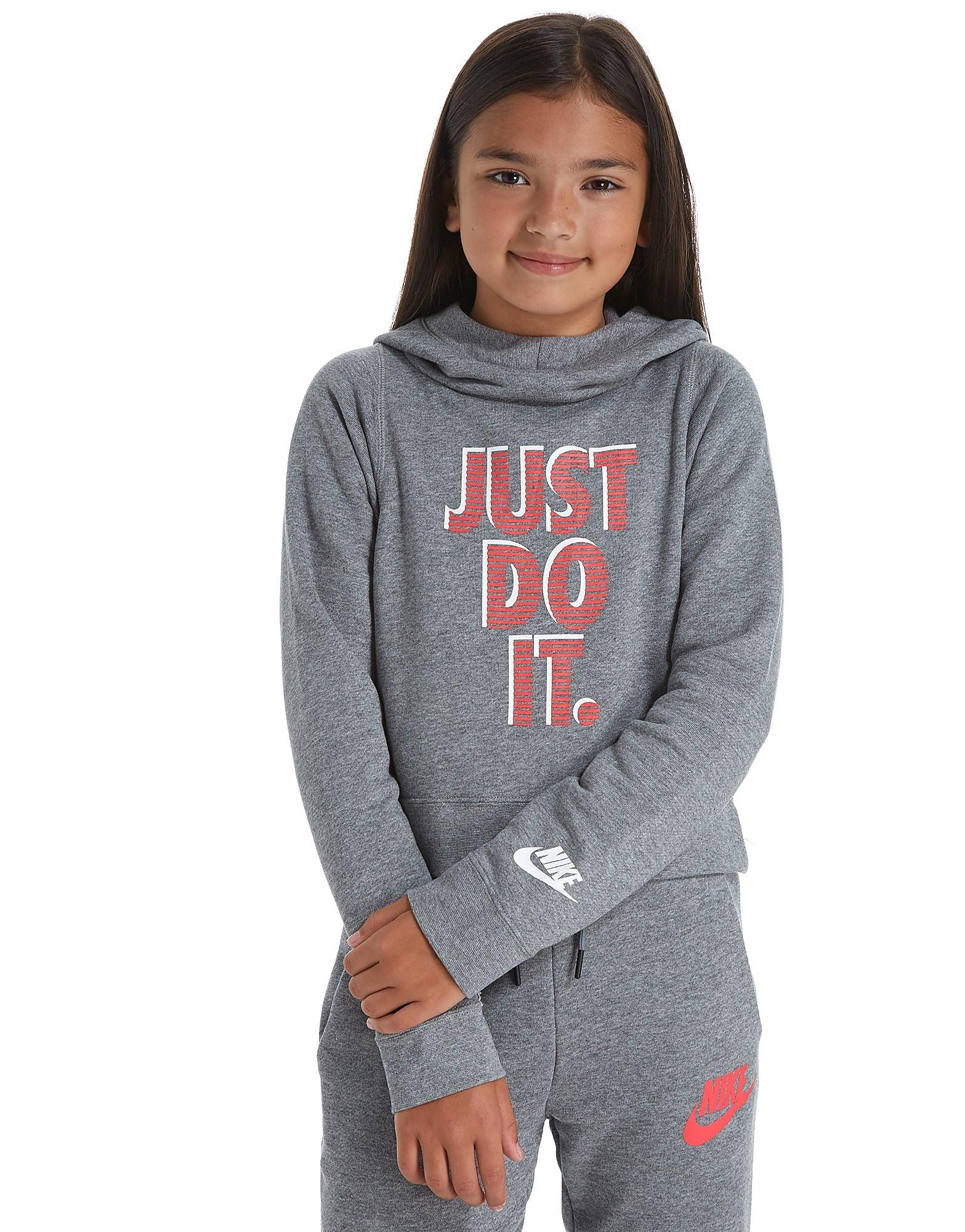 Nike Just Do It Cropped Hoody Girls