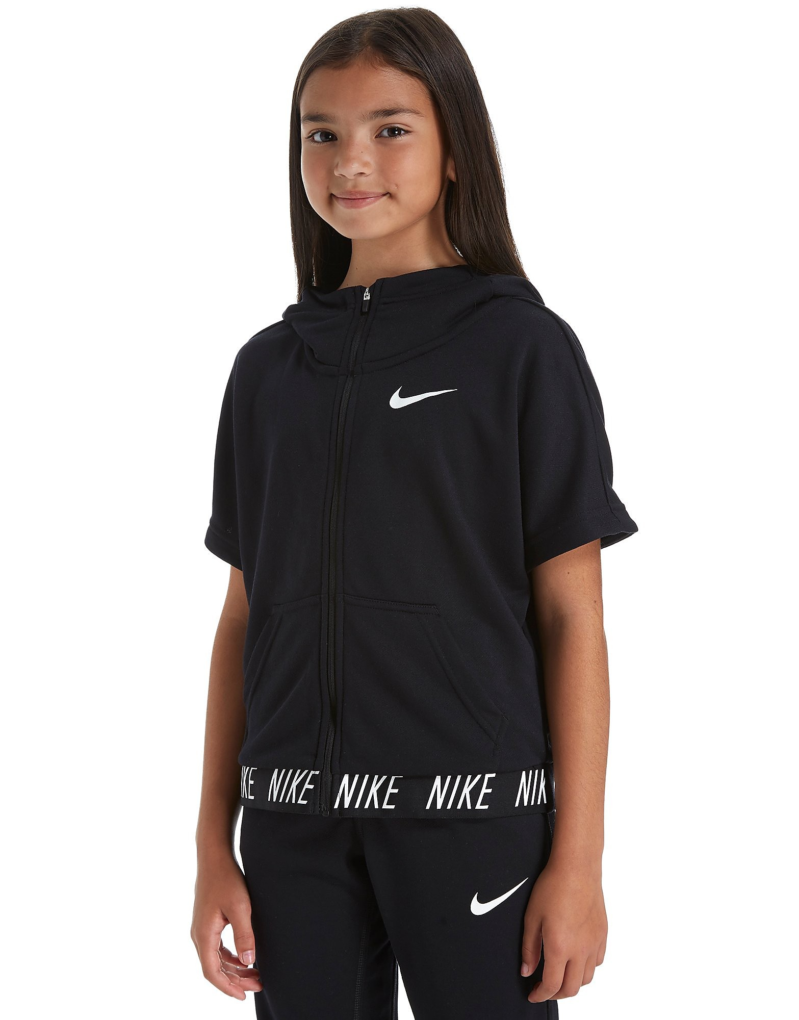 Nike Girls' Short Sleeve Studio Hoodie Junior