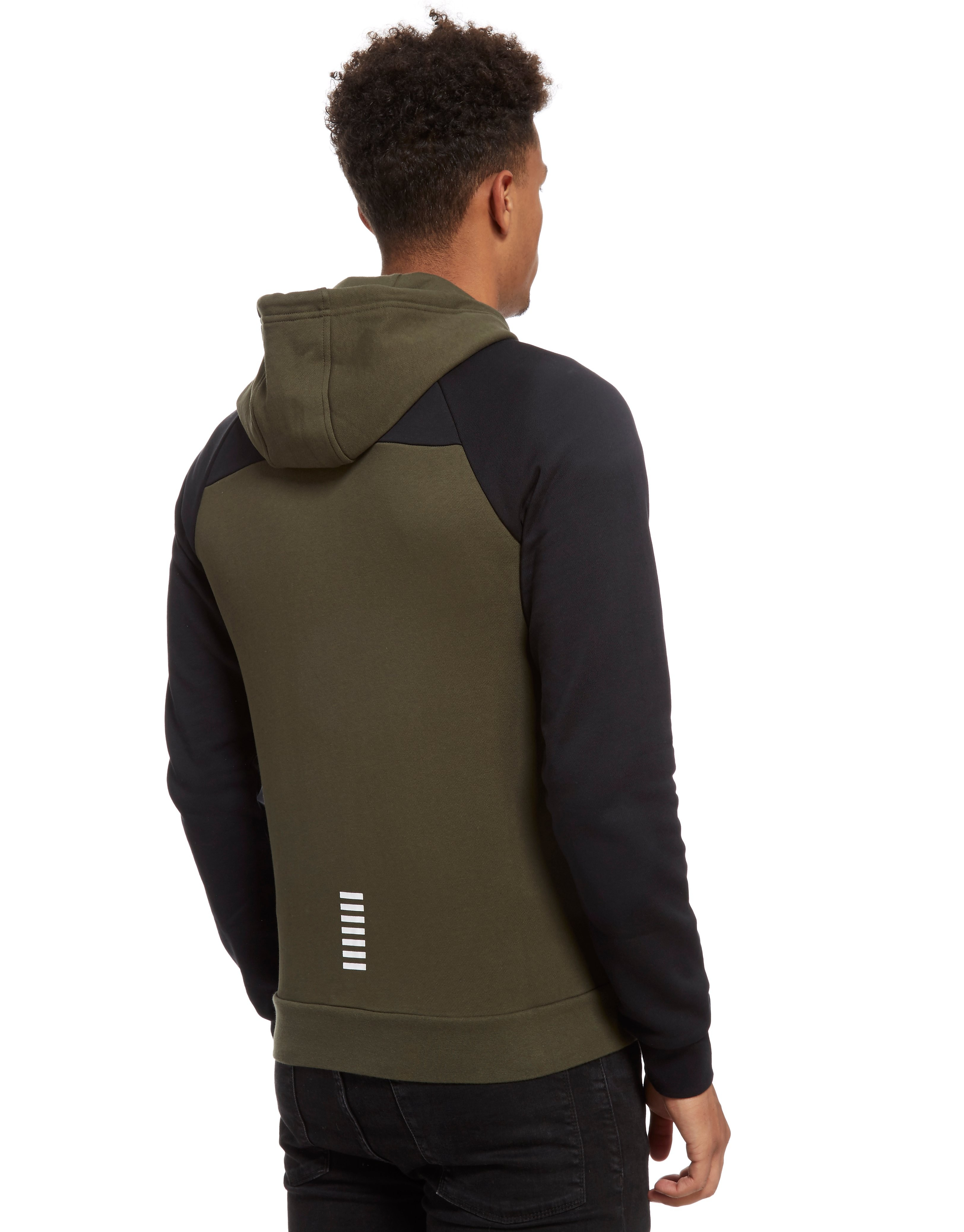 Emporio Armani EA7 Colourblock Zip Through Hoodie Heren