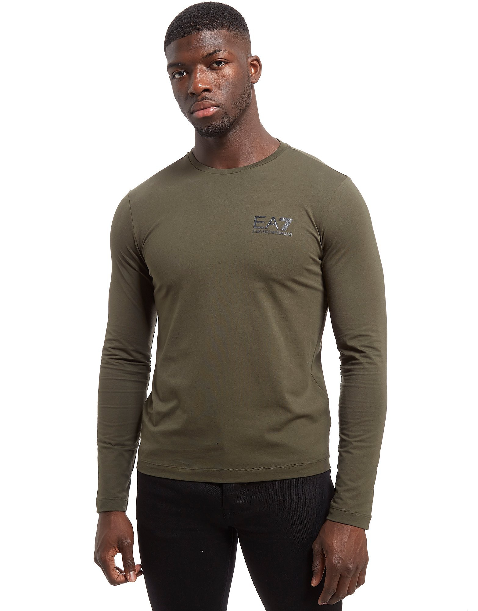 Emporio Armani EA7 Carbon Back Print Long Sleeve T-Shirt
