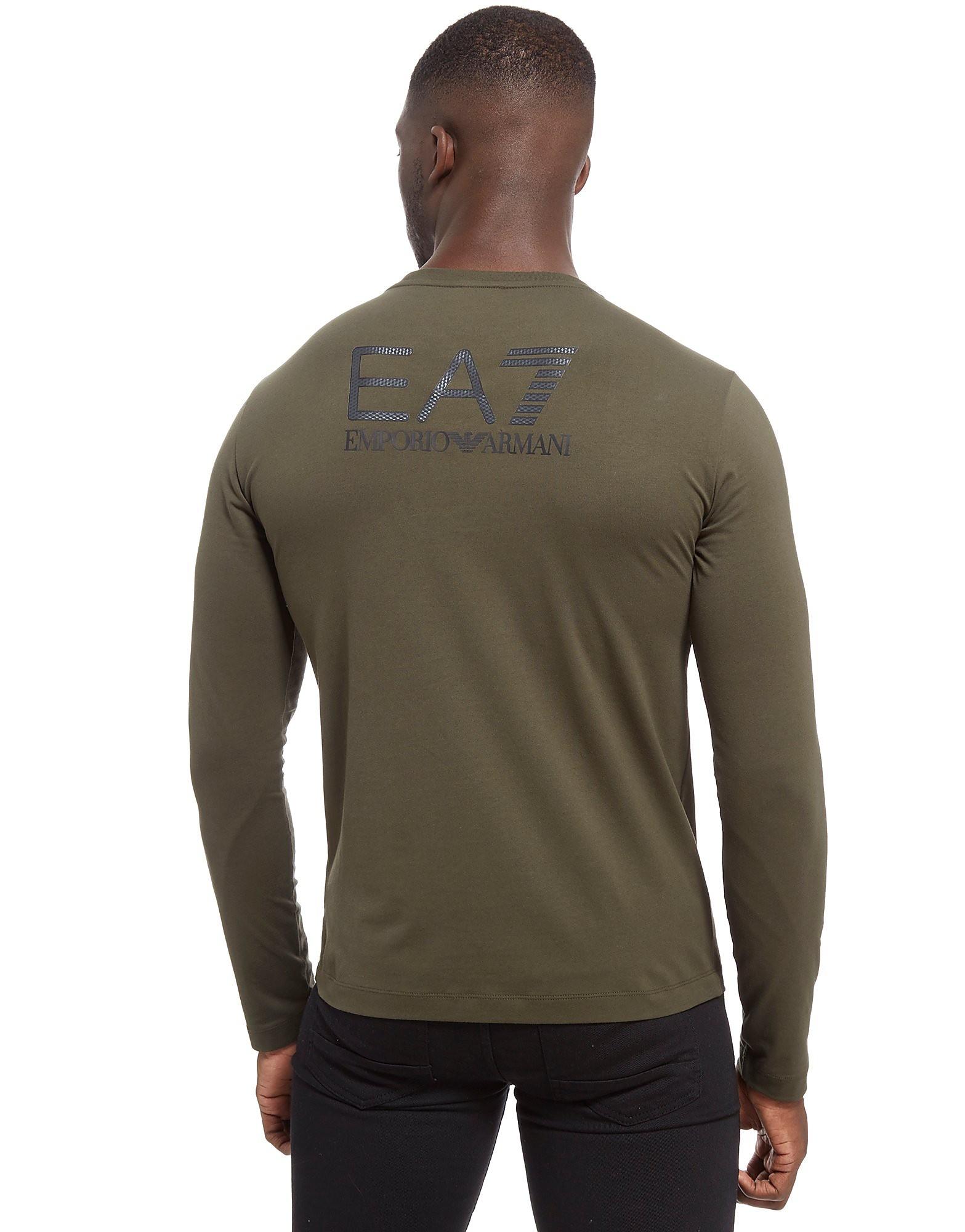 Emporio Armani EA7 Carbon Back Print Long Sleeve T-Shirt Heren
