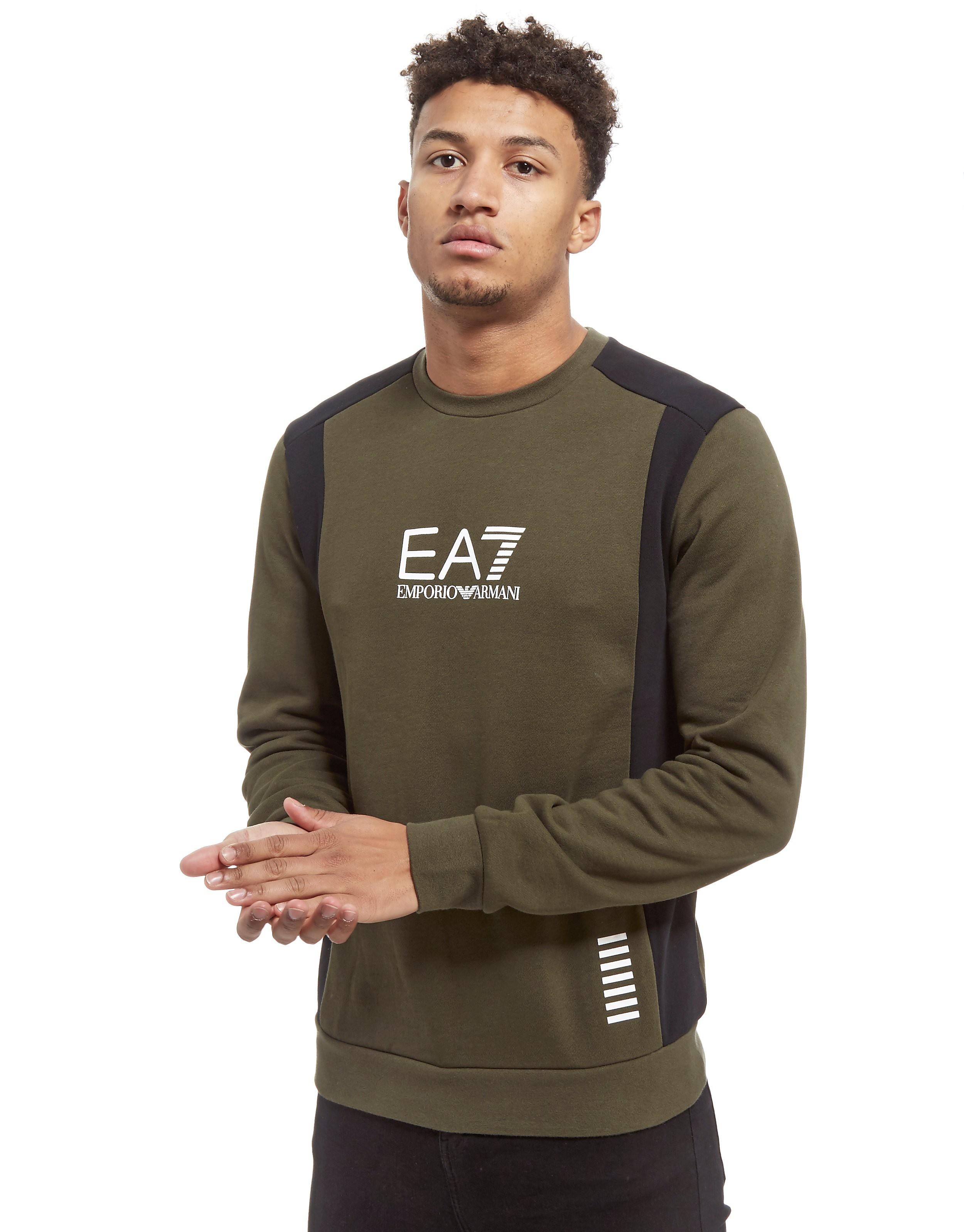 Emporio Armani EA7 Colour Block Crew Neck Sweatshirt Heren
