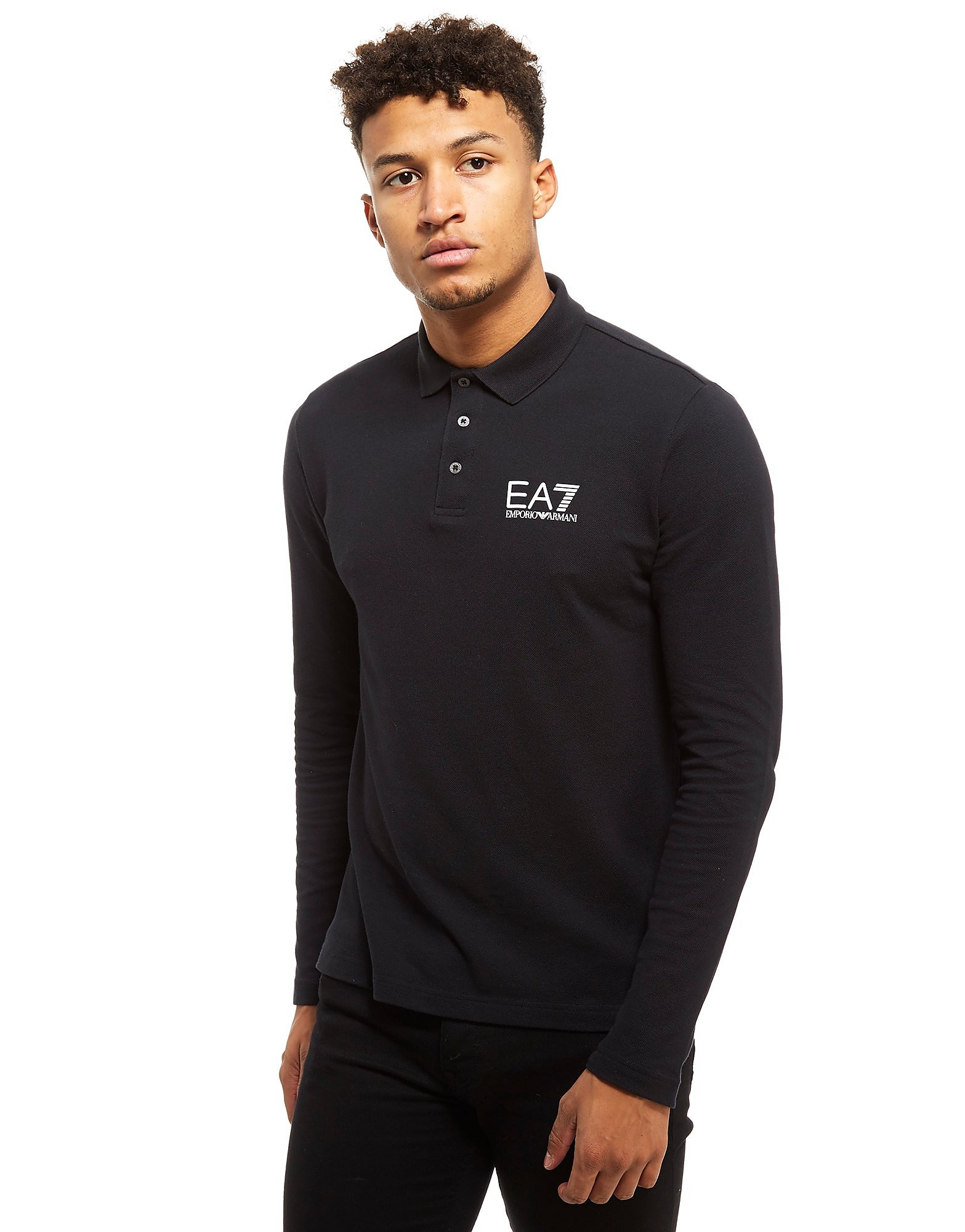 Emporio Armani EA7 Pique Long Sleeve Polo Heren