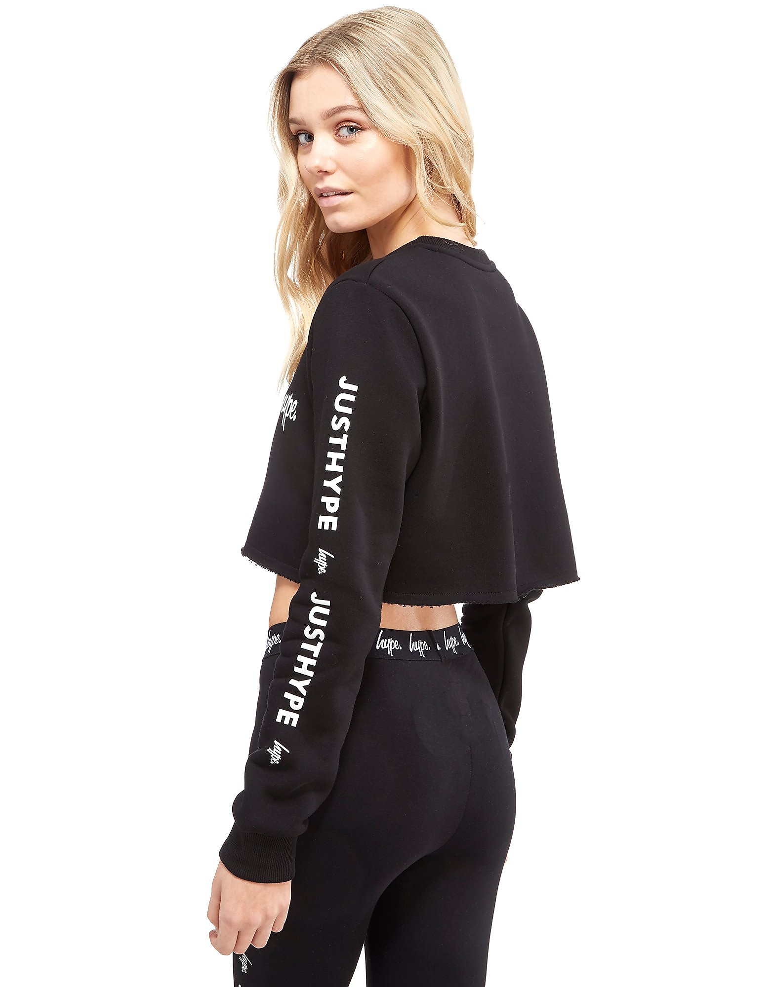 Hype Crop Repeat Crew Sweatshirt