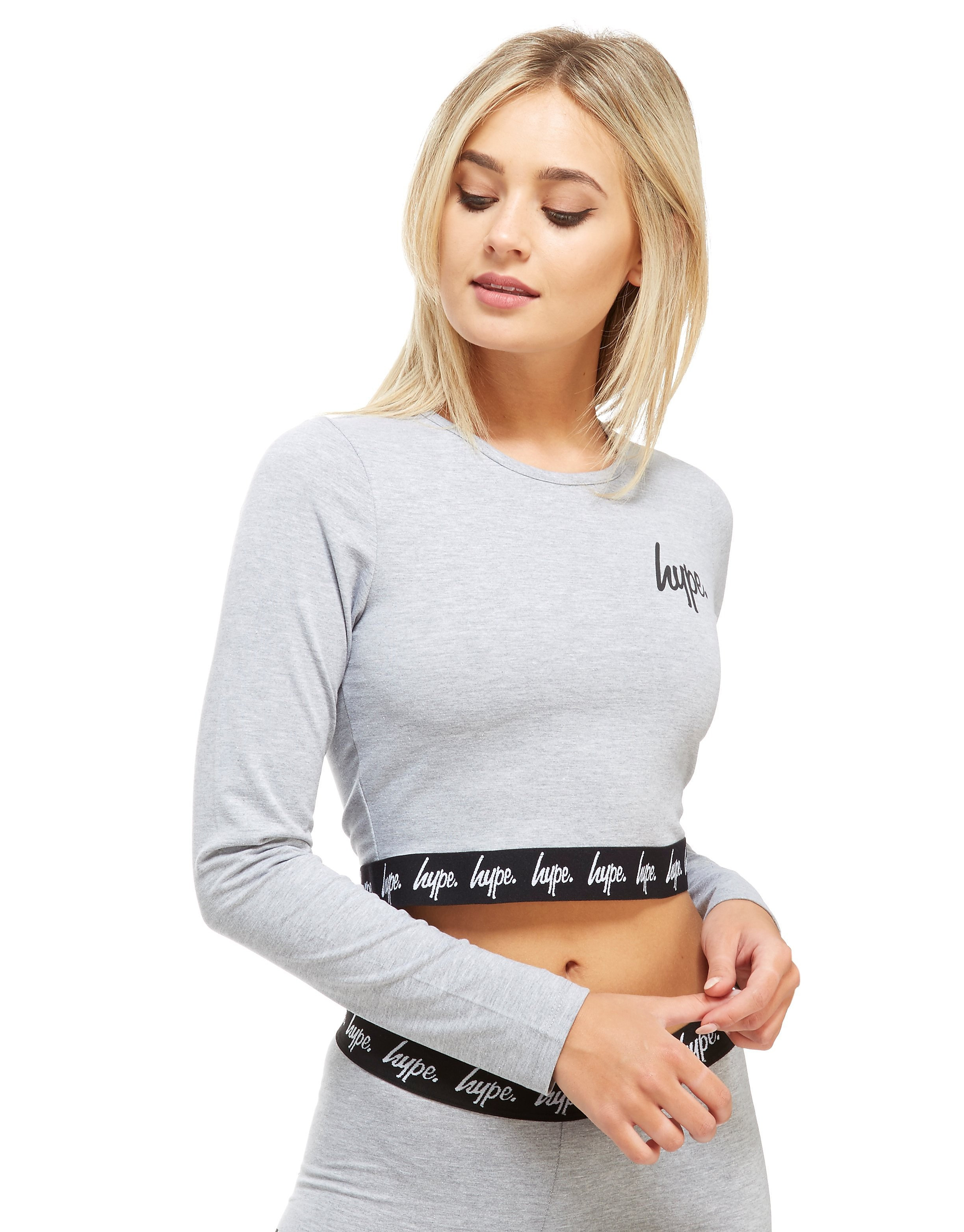 Hype Long Sleeve Tape Crop T-Shrt