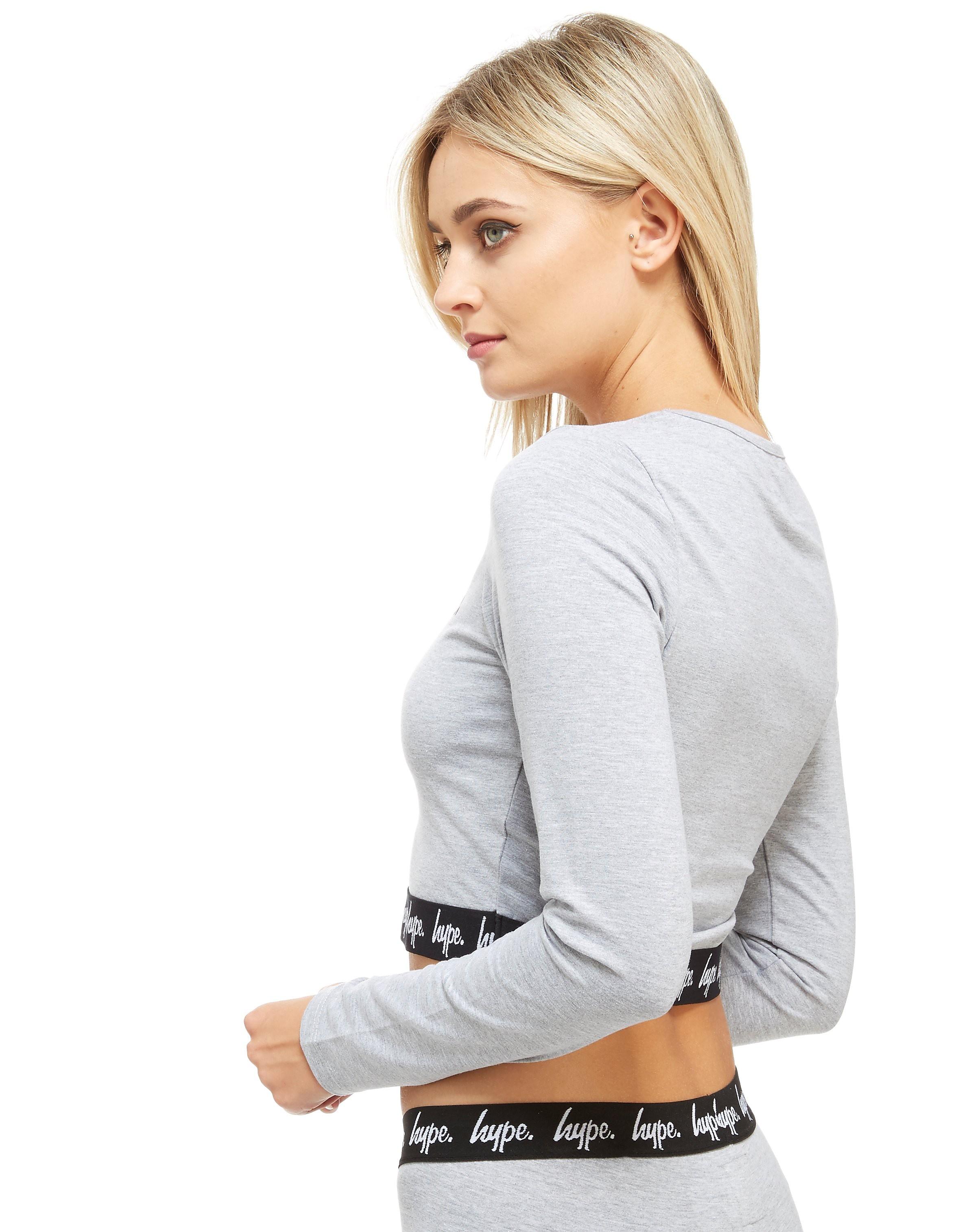Hype Langærmet Tape Crop T-Shirt
